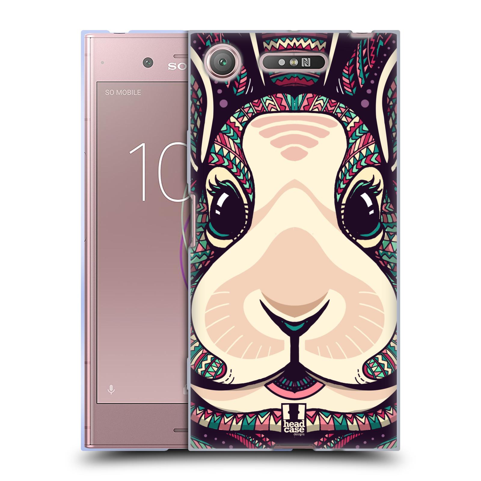 Silikonové pouzdro na mobil Sony Xperia XZ1 - Head Case - AZTEC ZAJÍČEK