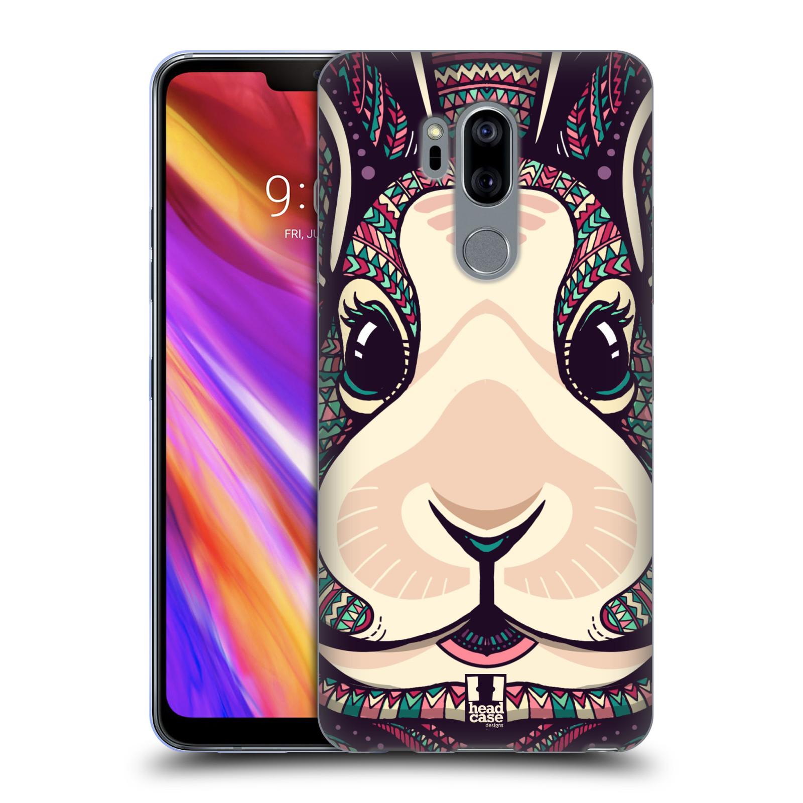 Silikonové pouzdro na mobil LG G7 ThinQ - Head Case - AZTEC ZAJÍČEK