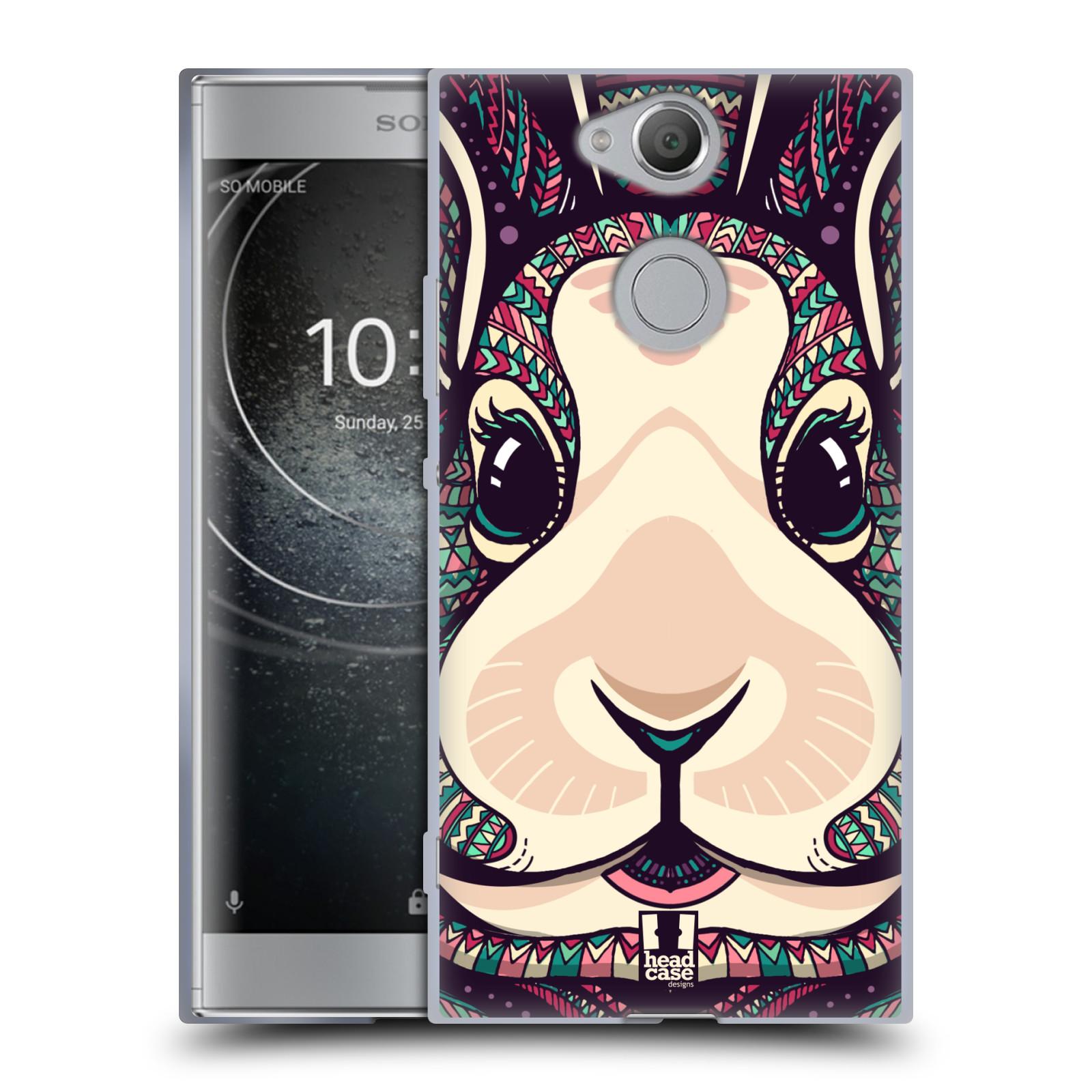 Silikonové pouzdro na mobil Sony Xperia XA2 - Head Case - AZTEC ZAJÍČEK