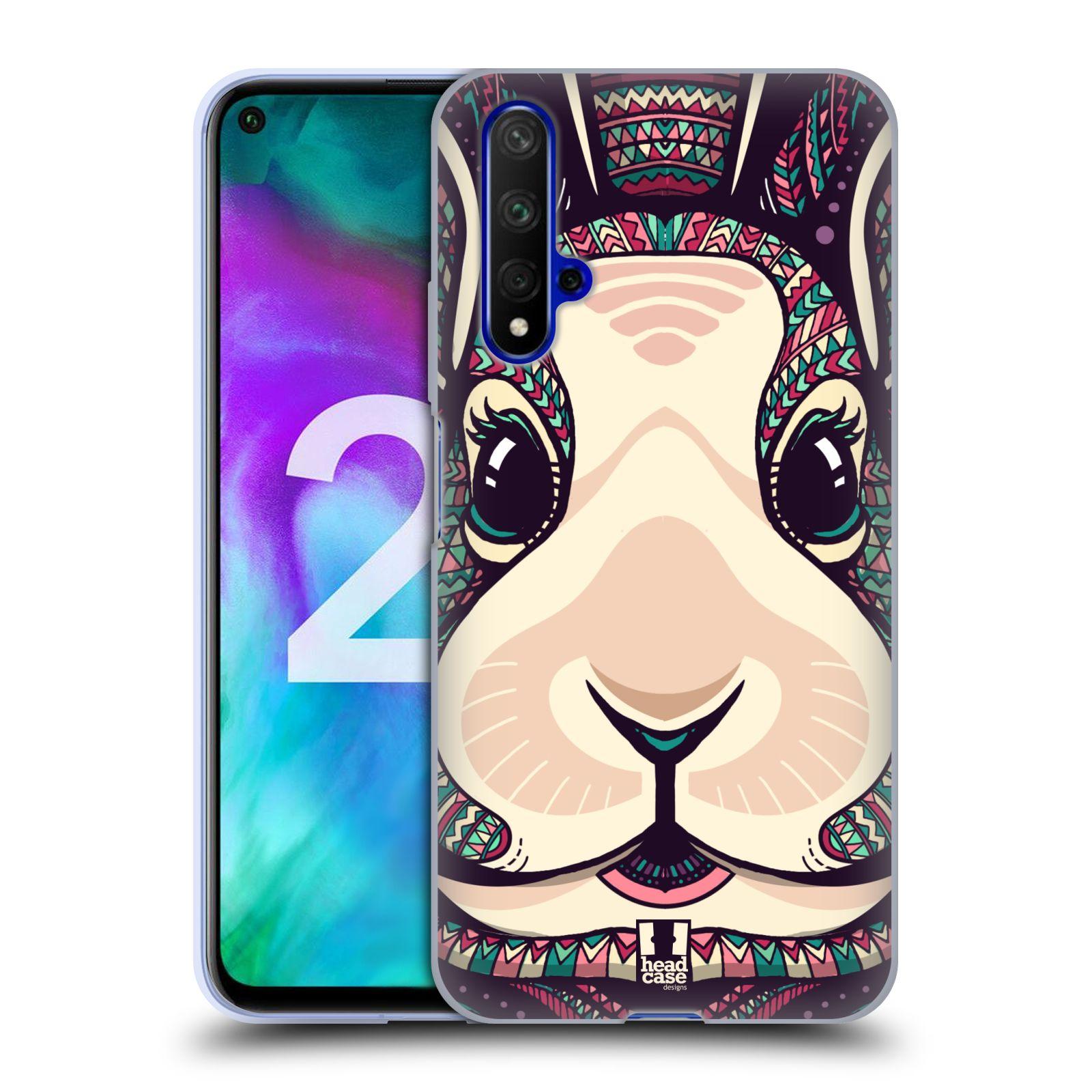 Silikonové pouzdro na mobil Honor 20 - Head Case - AZTEC ZAJÍČEK