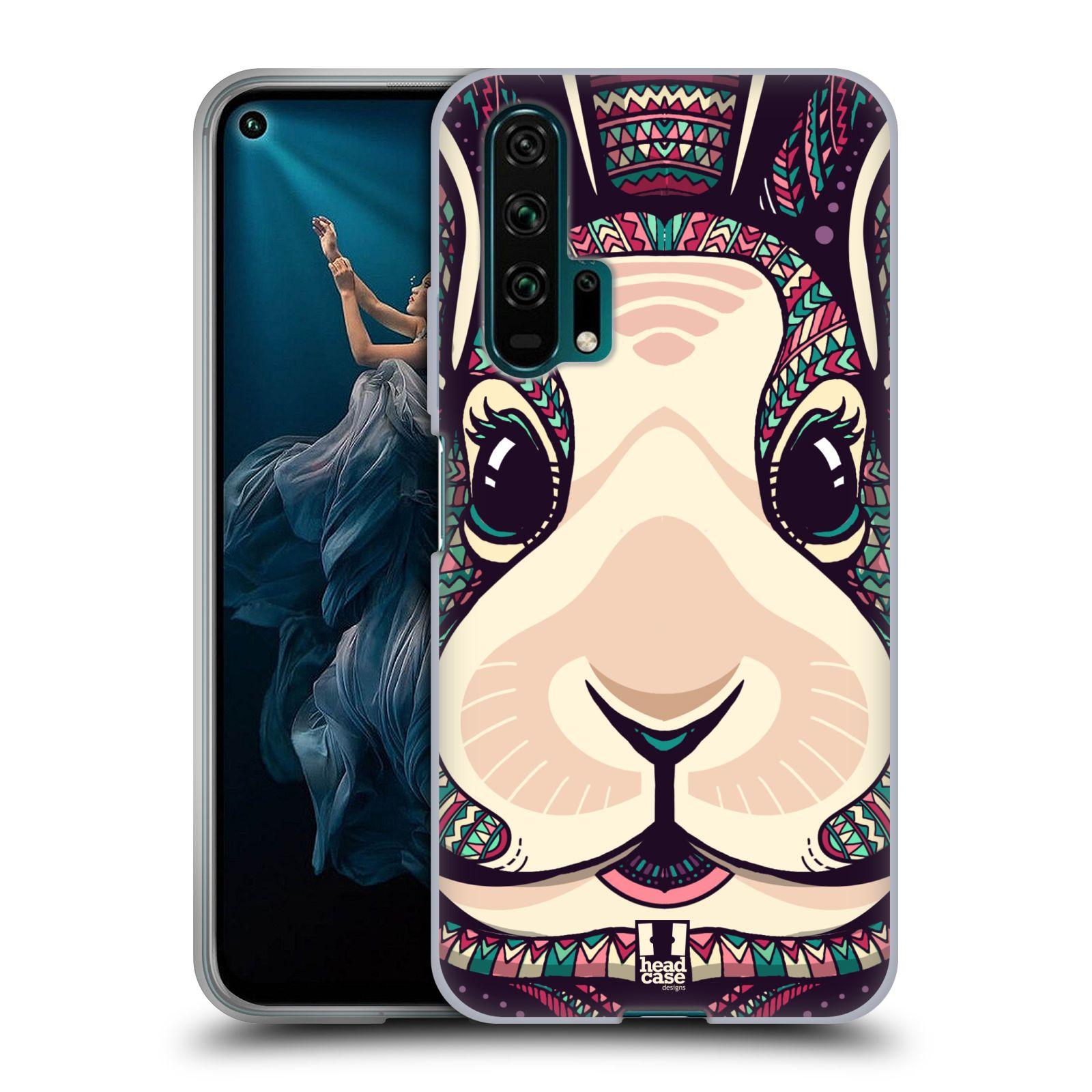 Silikonové pouzdro na mobil Honor 20 Pro - Head Case - AZTEC ZAJÍČEK