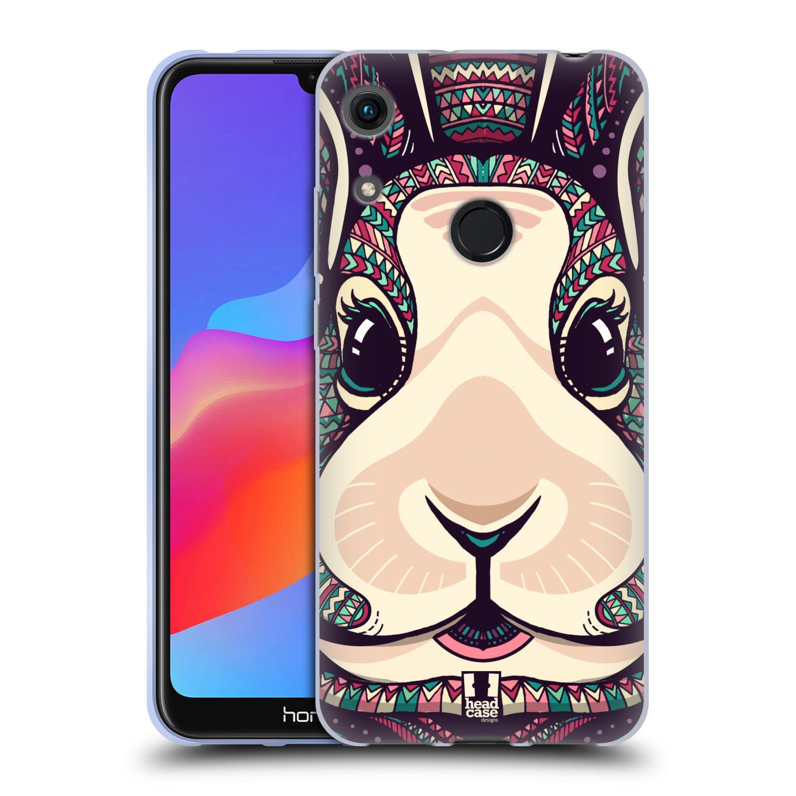 Silikonové pouzdro na mobil Honor 8A - Head Case - AZTEC ZAJÍČEK
