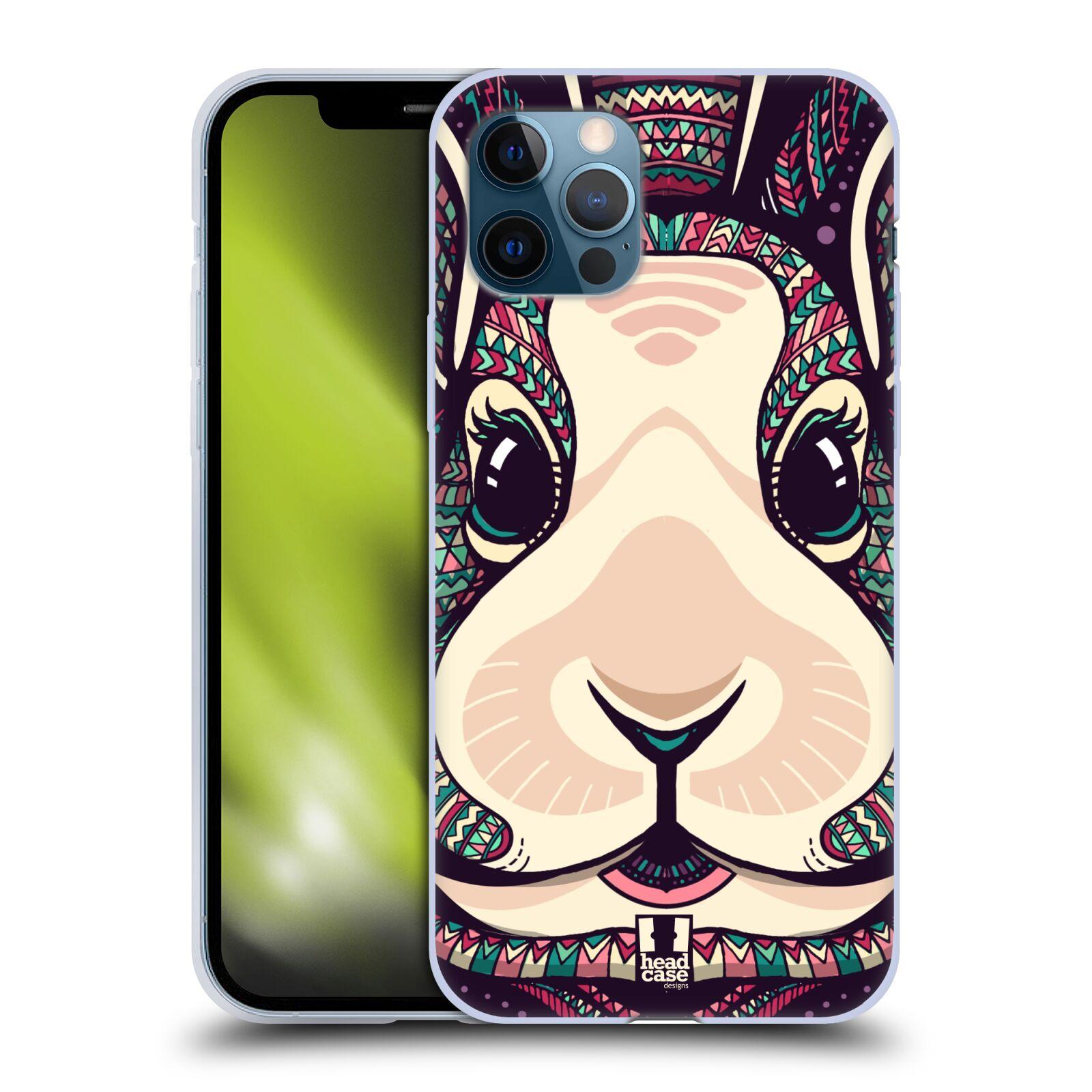Silikonové pouzdro na mobil Apple iPhone 12 / 12 Pro - Head Case - AZTEC ZAJÍČEK