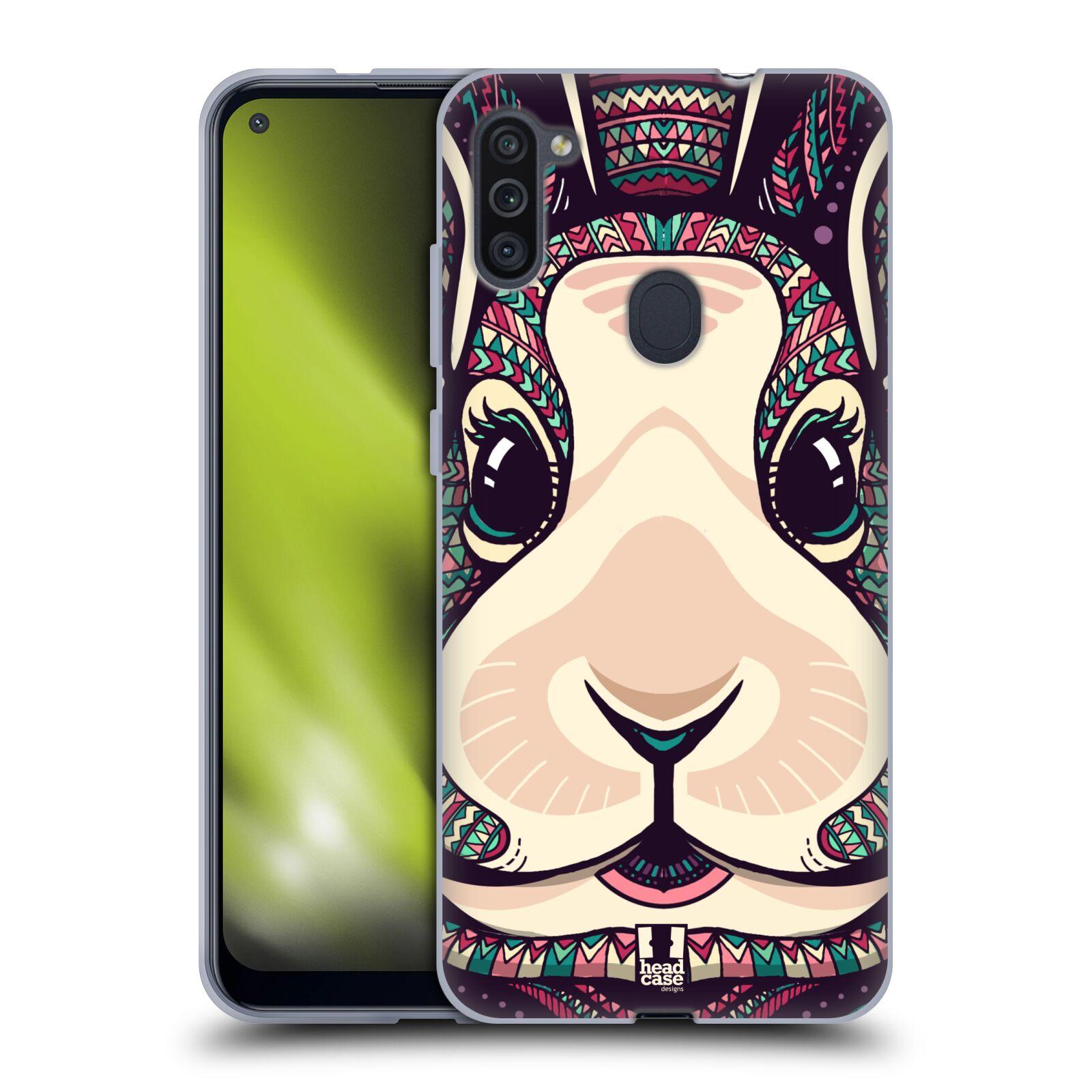 Silikonové pouzdro na mobil Samsung Galaxy M11 - Head Case - AZTEC ZAJÍČEK