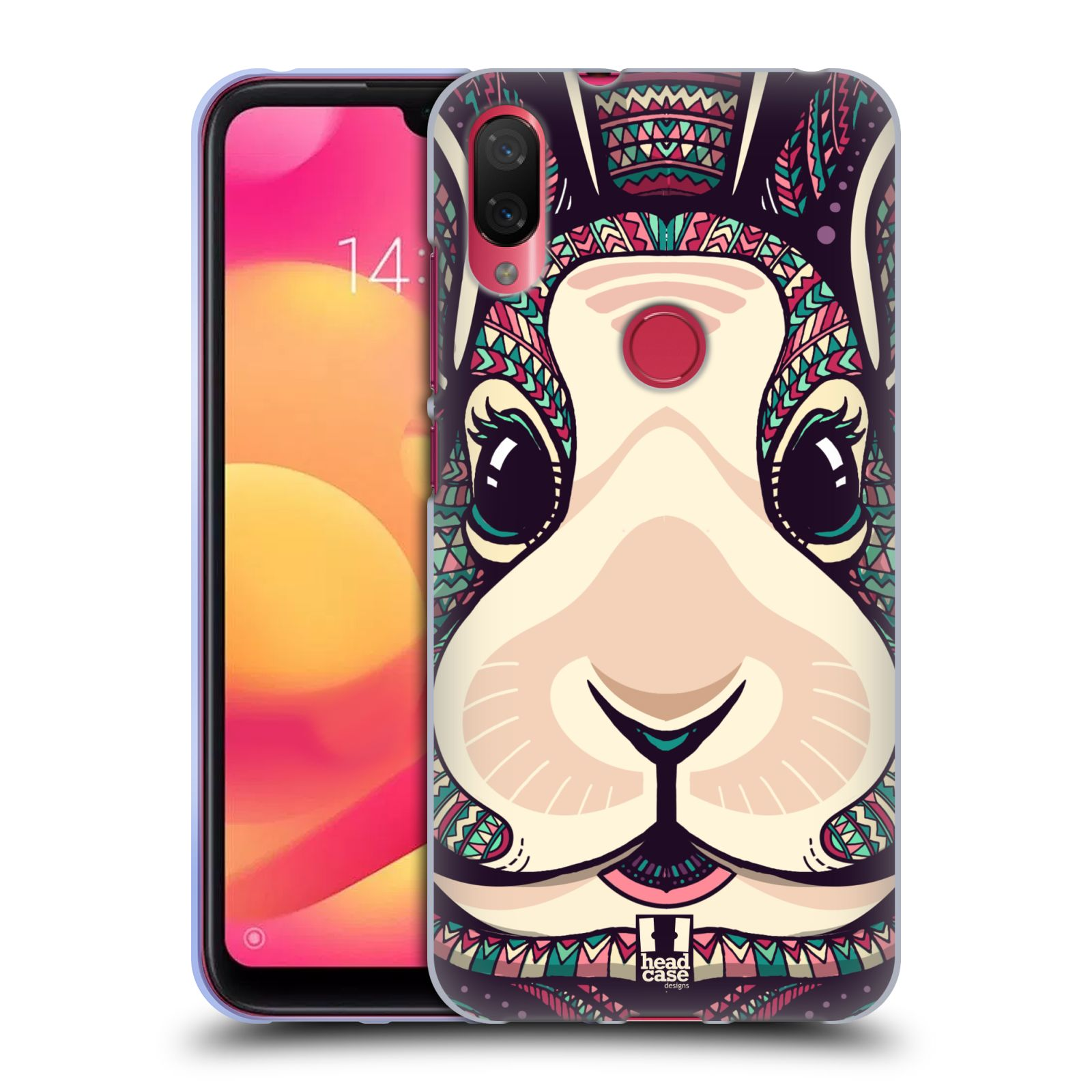 Silikonové pouzdro na mobil Xiaomi Mi Play - Head Case - AZTEC ZAJÍČEK