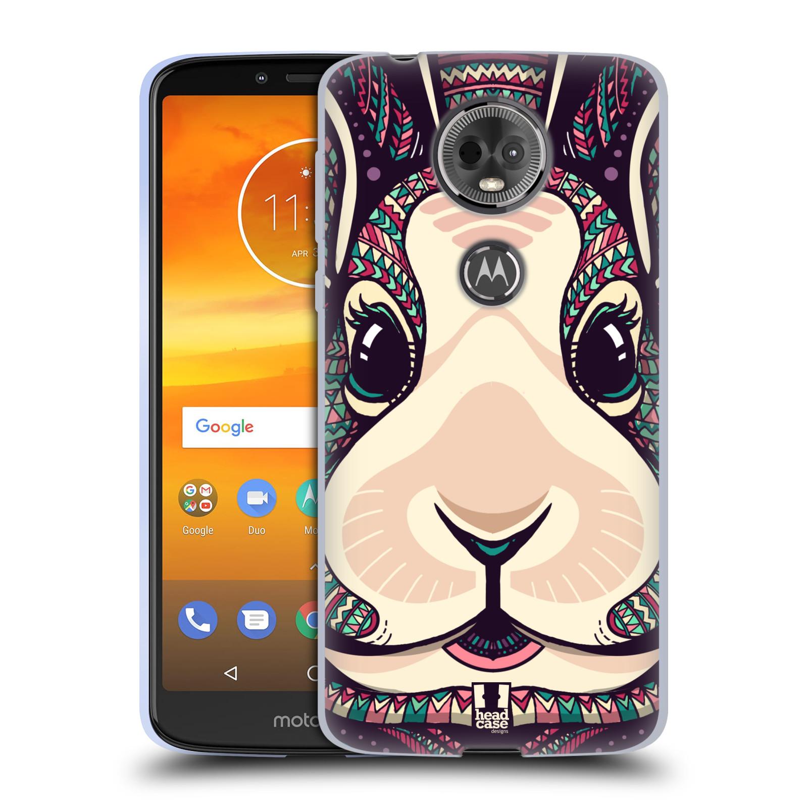 Silikonové pouzdro na mobil Motorola Moto E5 Plus - Head Case - AZTEC ZAJÍČEK