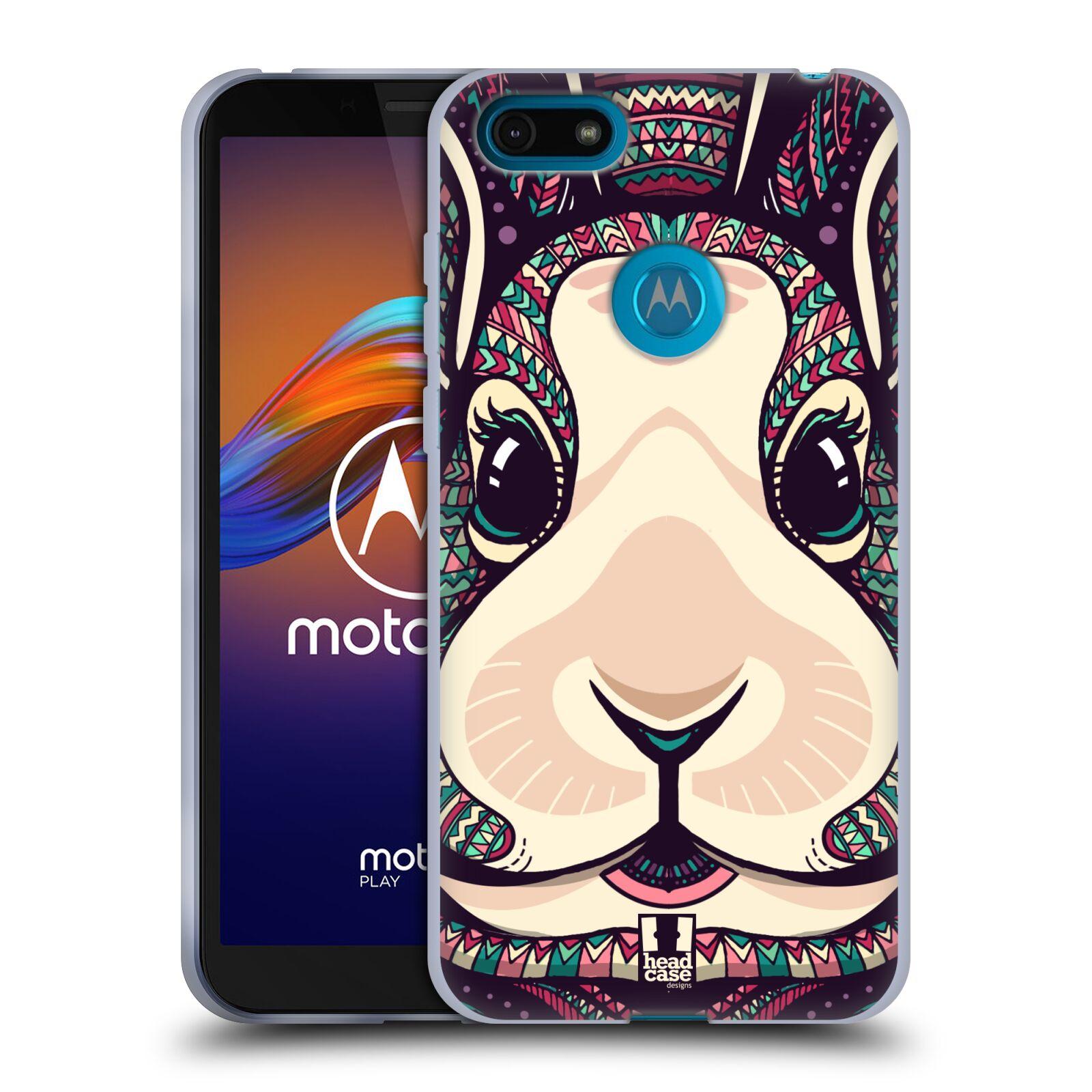 Silikonové pouzdro na mobil Motorola Moto E6 Play - Head Case - AZTEC ZAJÍČEK