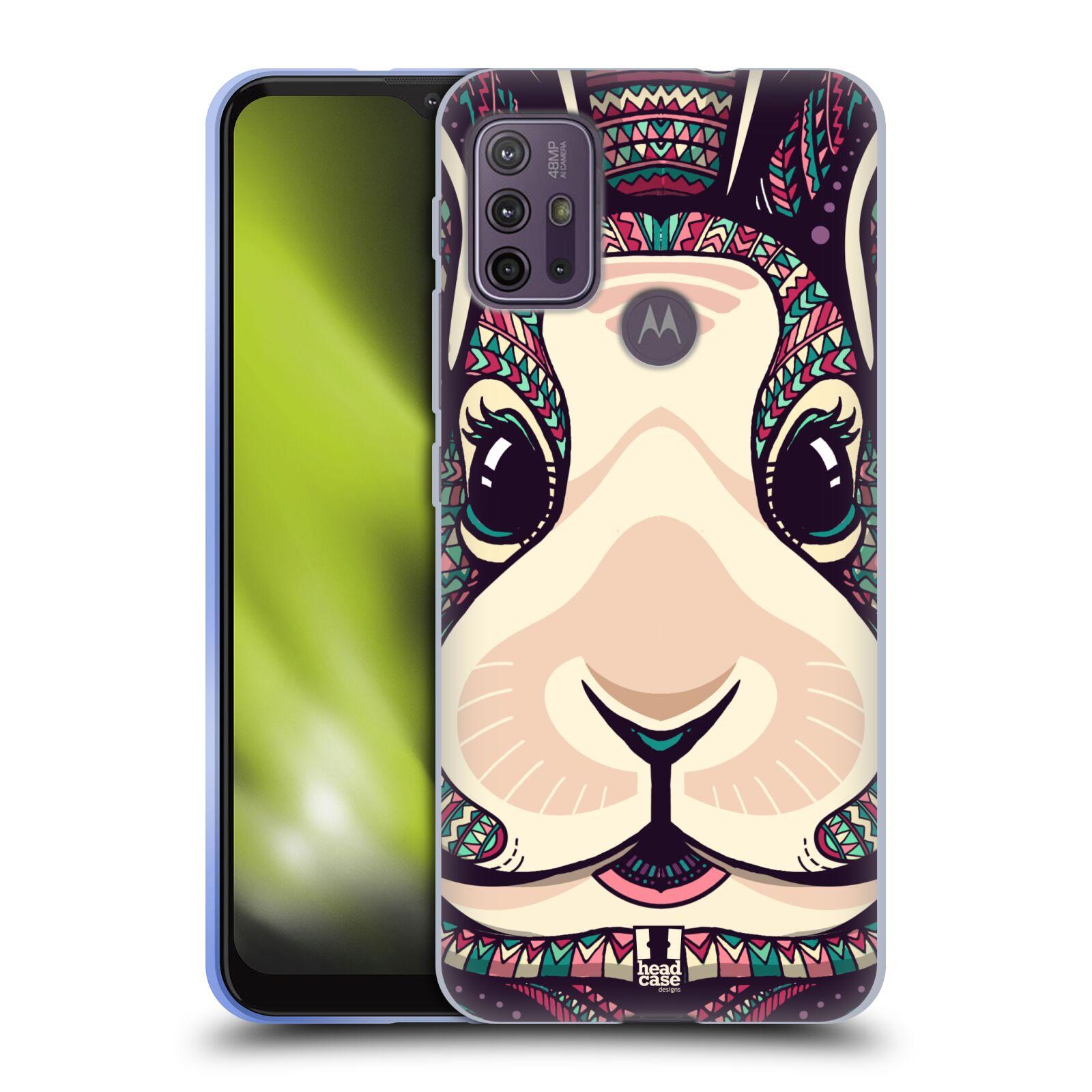 Silikonové pouzdro na mobil Motorola Moto G10 / G30 - Head Case - AZTEC ZAJÍČEK