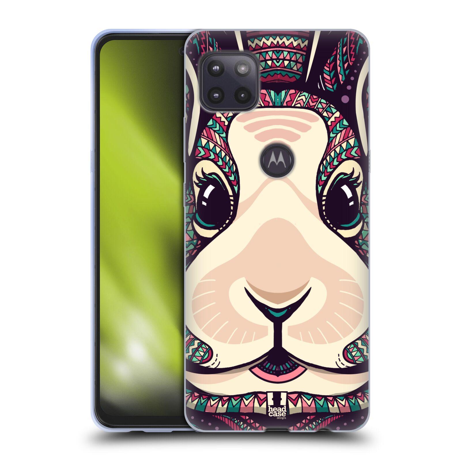 Silikonové pouzdro na mobil Motorola Moto G 5G - Head Case - AZTEC ZAJÍČEK