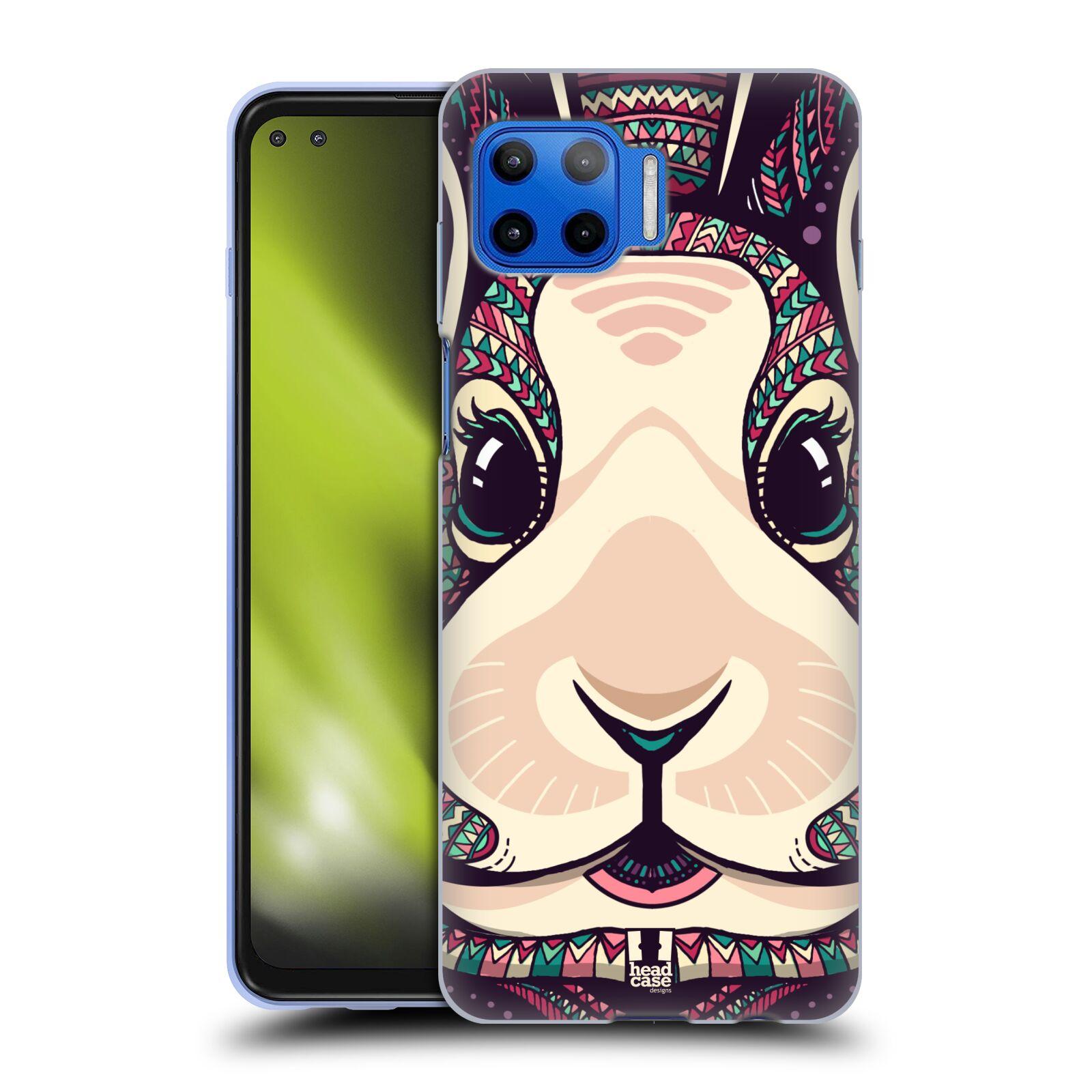 Silikonové pouzdro na mobil Motorola Moto G 5G Plus - Head Case - AZTEC ZAJÍČEK