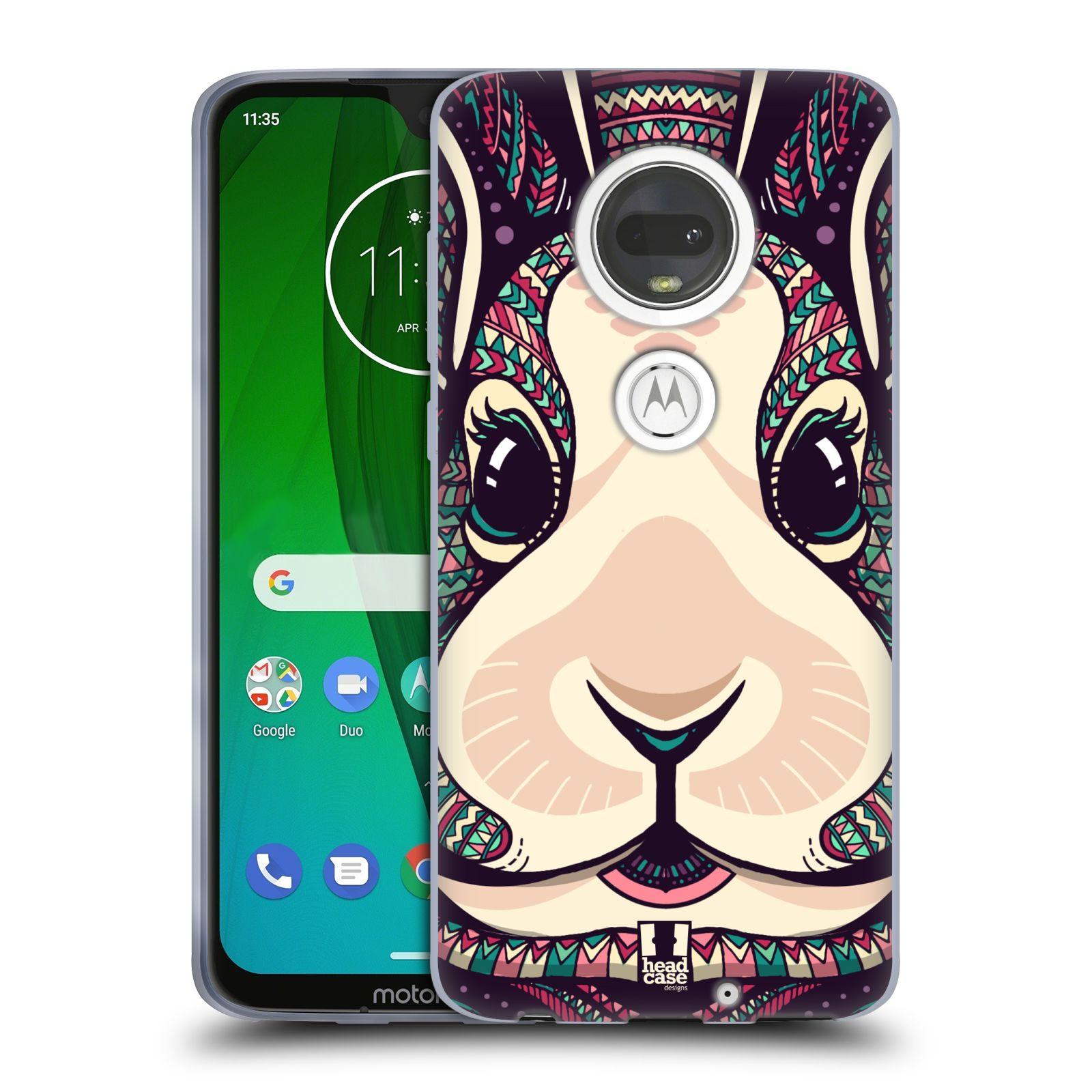 Silikonové pouzdro na mobil Motorola Moto G7 - Head Case - AZTEC ZAJÍČEK