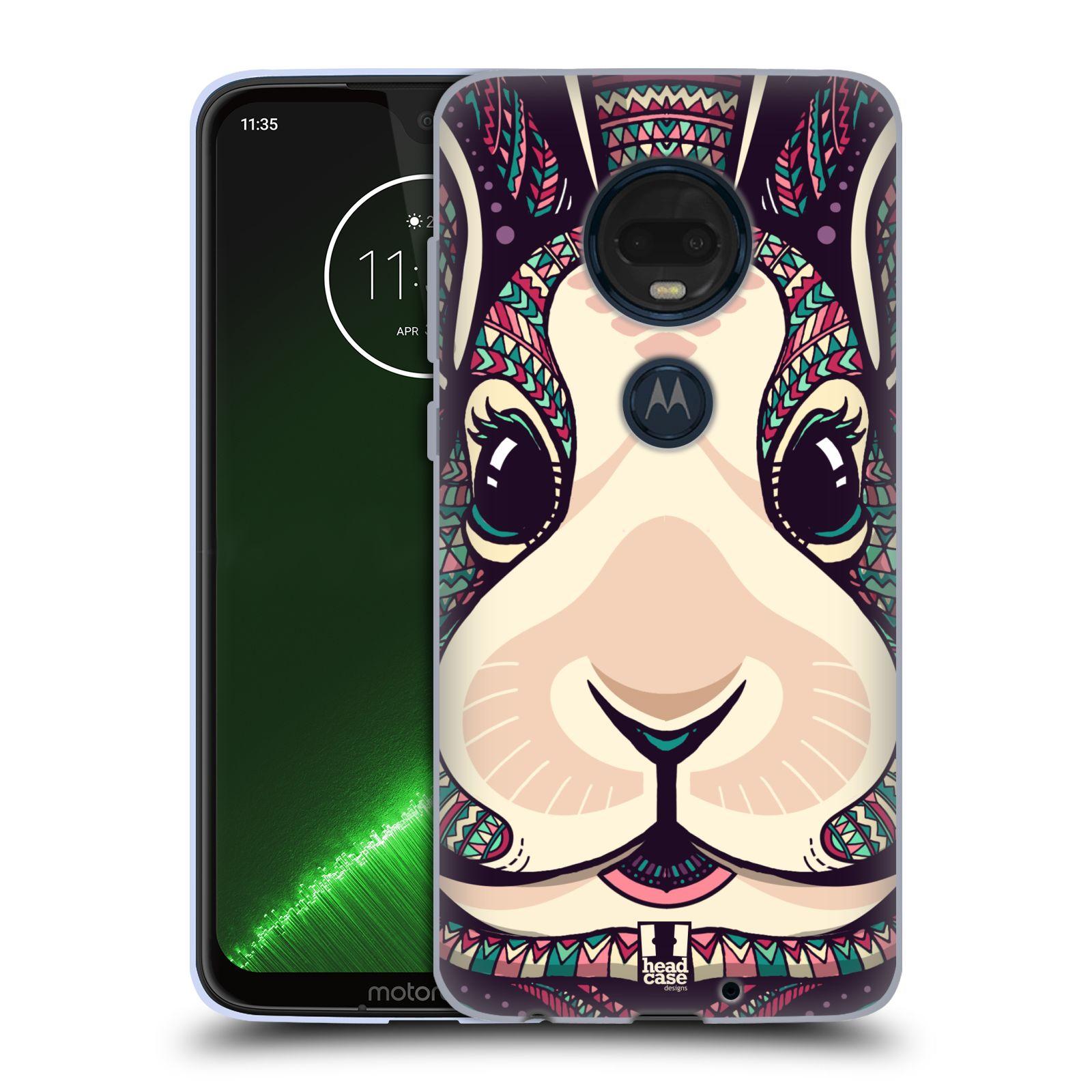 Silikonové pouzdro na mobil Motorola Moto G7 Plus - Head Case - AZTEC ZAJÍČEK