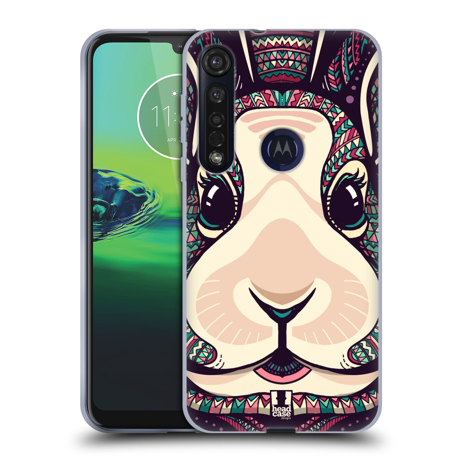 Silikonové pouzdro na mobil Motorola Moto G8 Plus - Head Case - AZTEC ZAJÍČEK