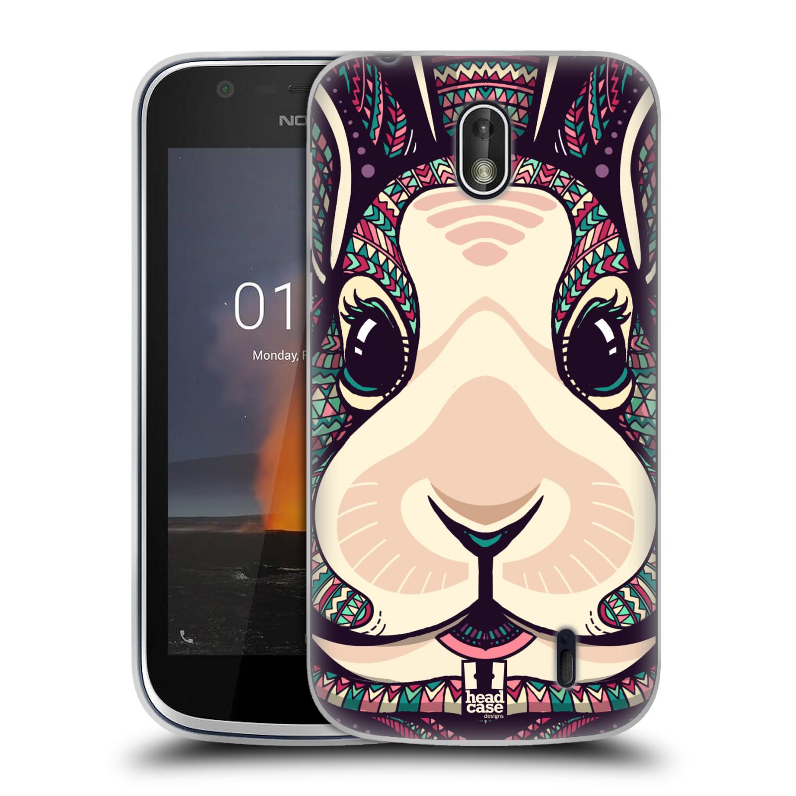 Silikonové pouzdro na mobil Nokia 1 - Head Case - AZTEC ZAJÍČEK