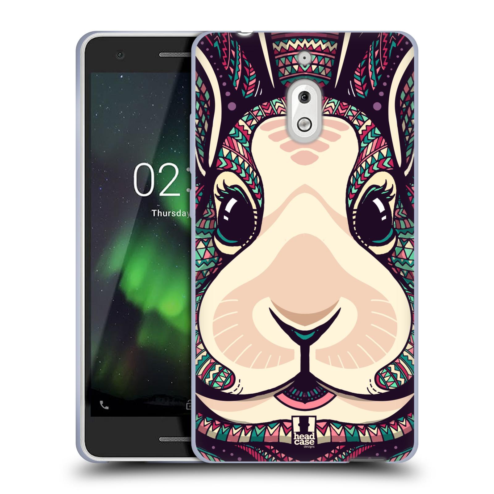 Silikonové pouzdro na mobil Nokia 2.1 - Head Case - AZTEC ZAJÍČEK