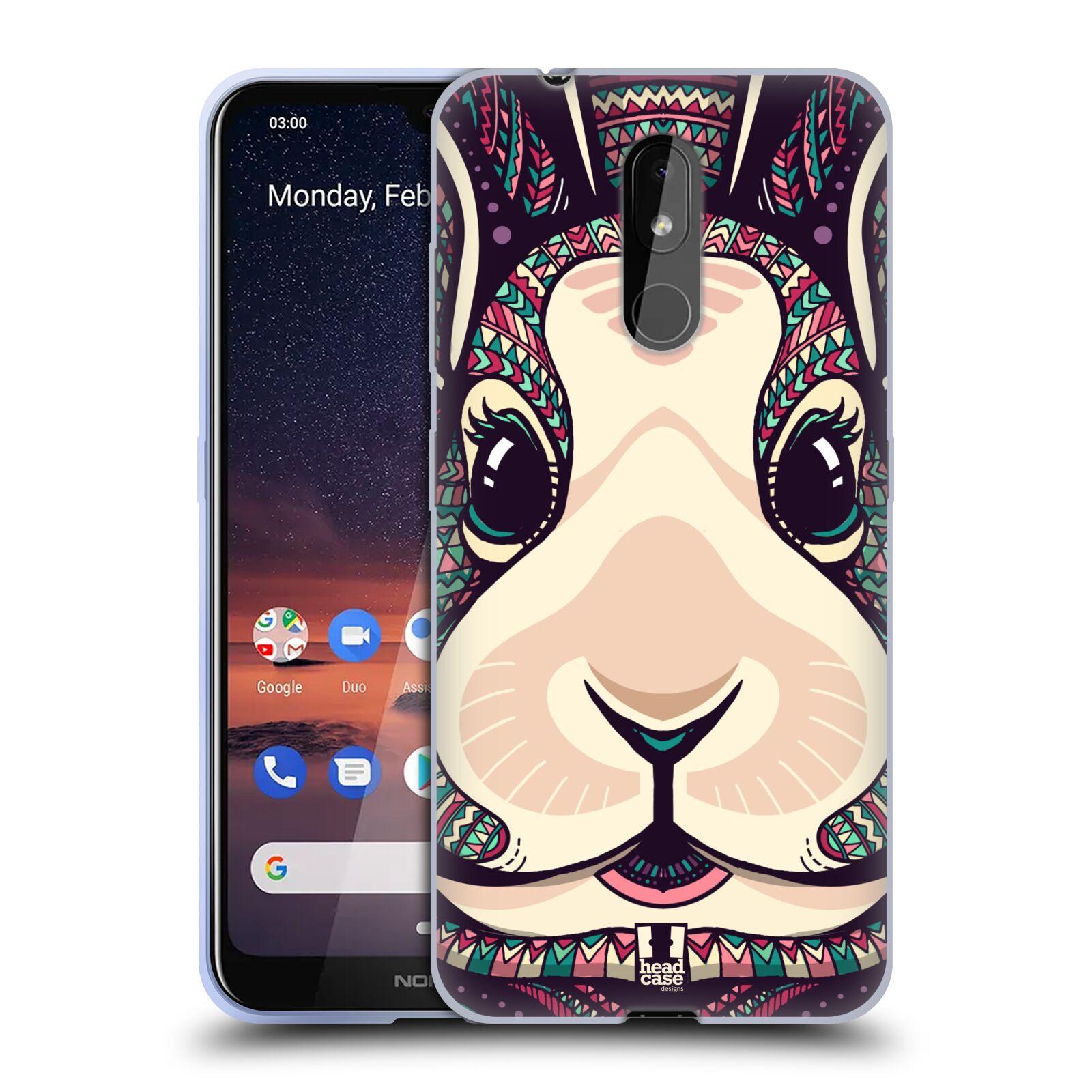 Silikonové pouzdro na mobil Nokia 3.2 - Head Case - AZTEC ZAJÍČEK