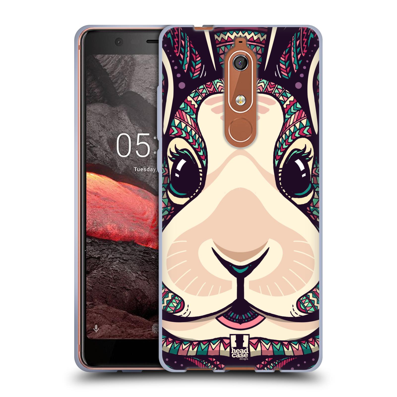 Silikonové pouzdro na mobil Nokia 5.1 - Head Case - AZTEC ZAJÍČEK