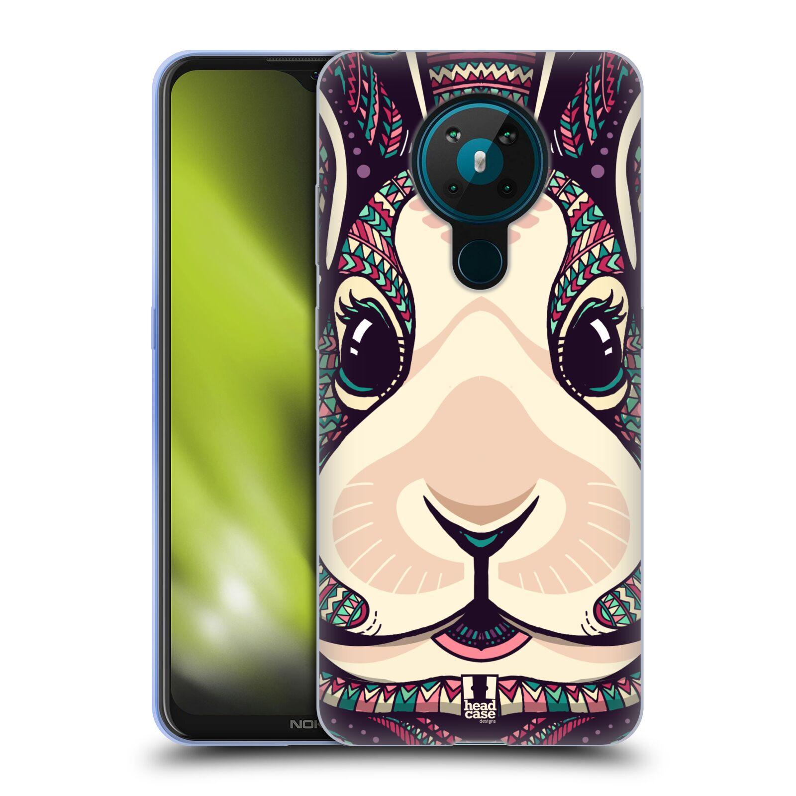 Silikonové pouzdro na mobil Nokia 5.3 - Head Case - AZTEC ZAJÍČEK