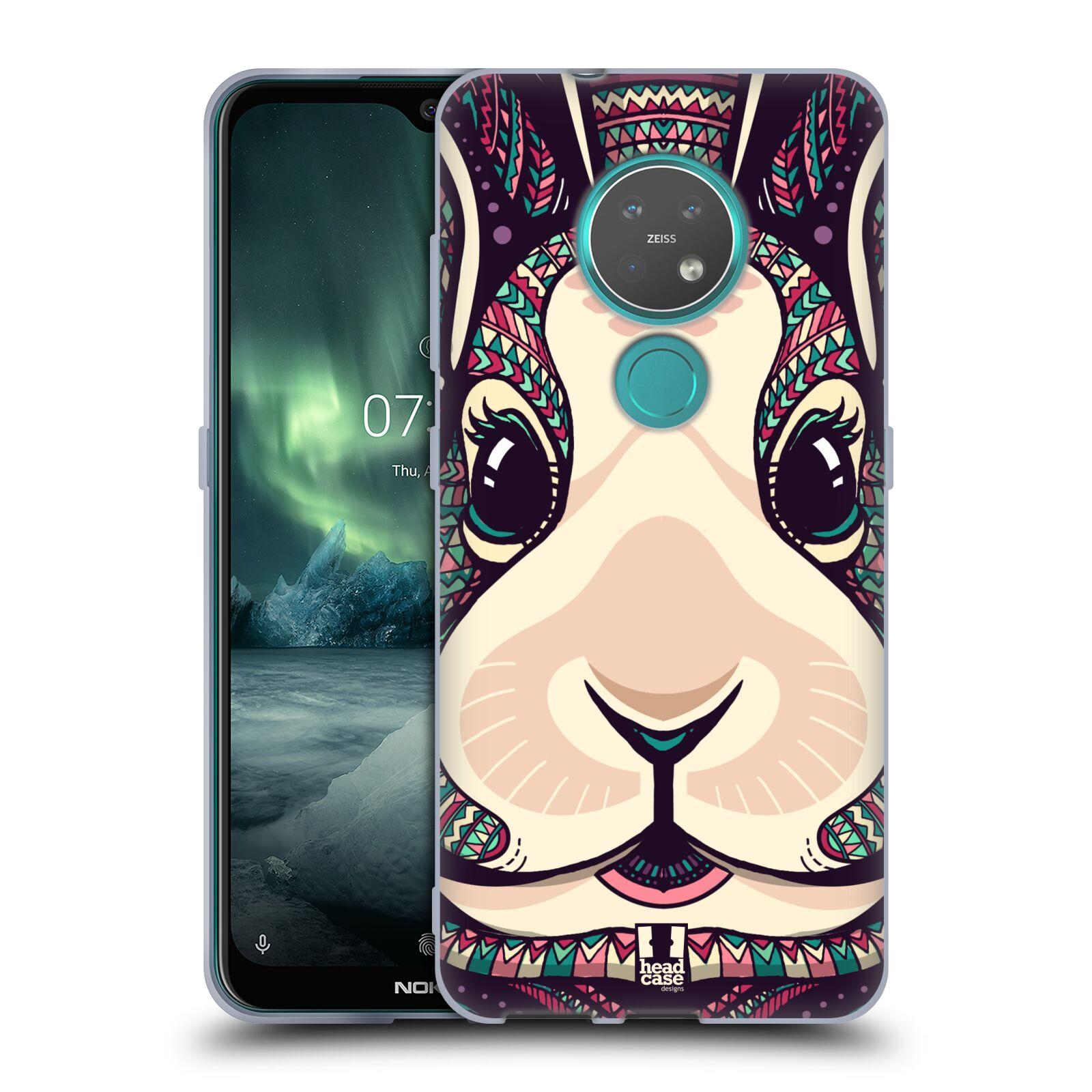 Silikonové pouzdro na mobil Nokia 6.2 - Head Case - AZTEC ZAJÍČEK