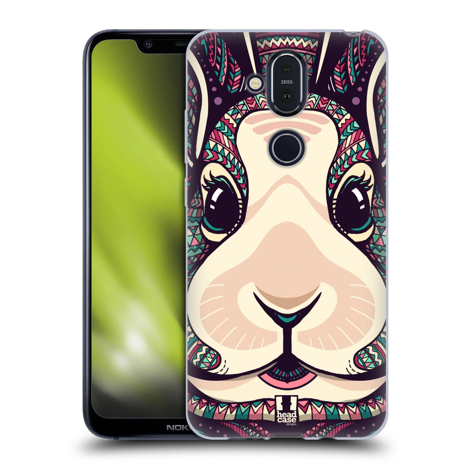 Silikonové pouzdro na mobil Nokia 8.1 - Head Case - AZTEC ZAJÍČEK