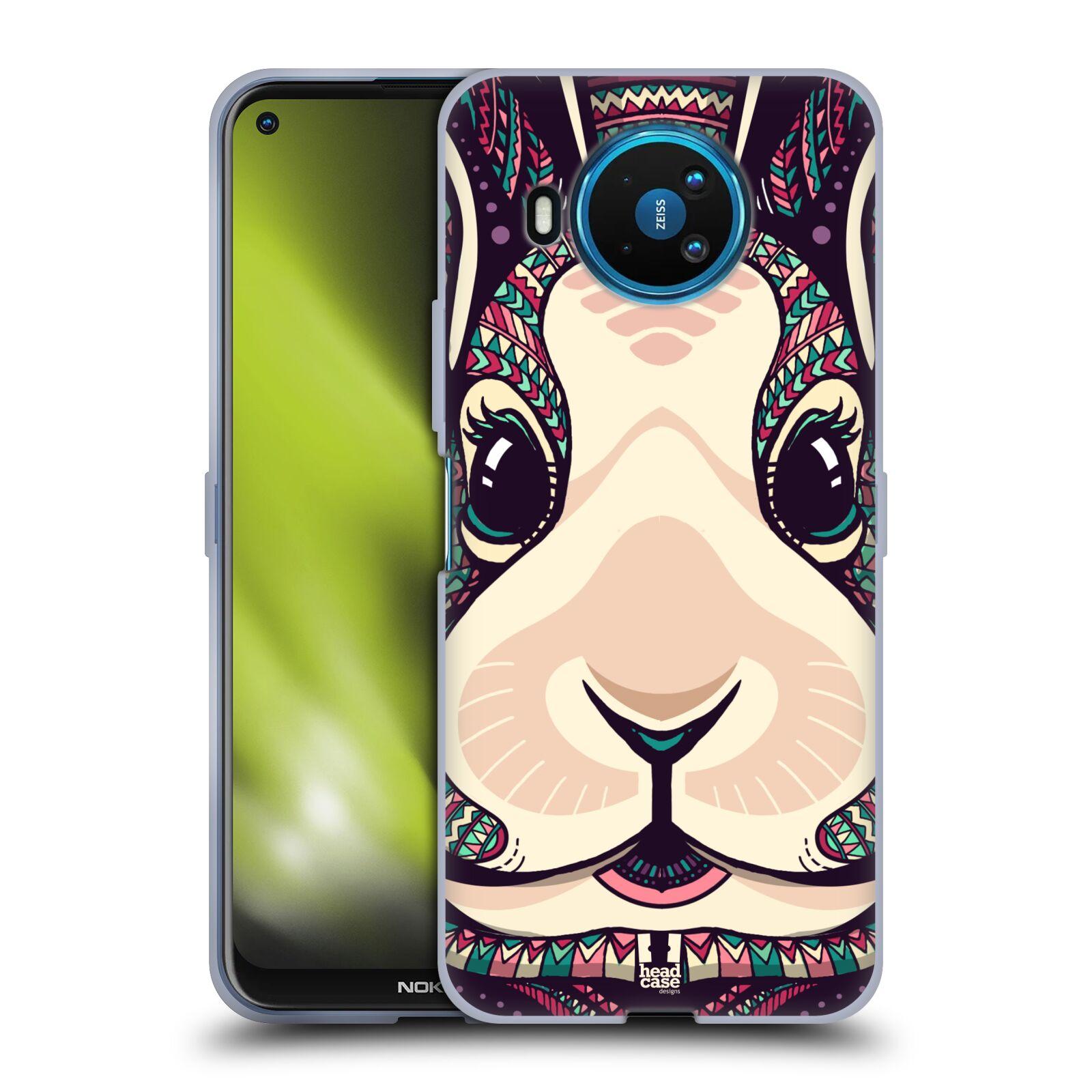 Silikonové pouzdro na mobil Nokia 8.3 5G - Head Case - AZTEC ZAJÍČEK