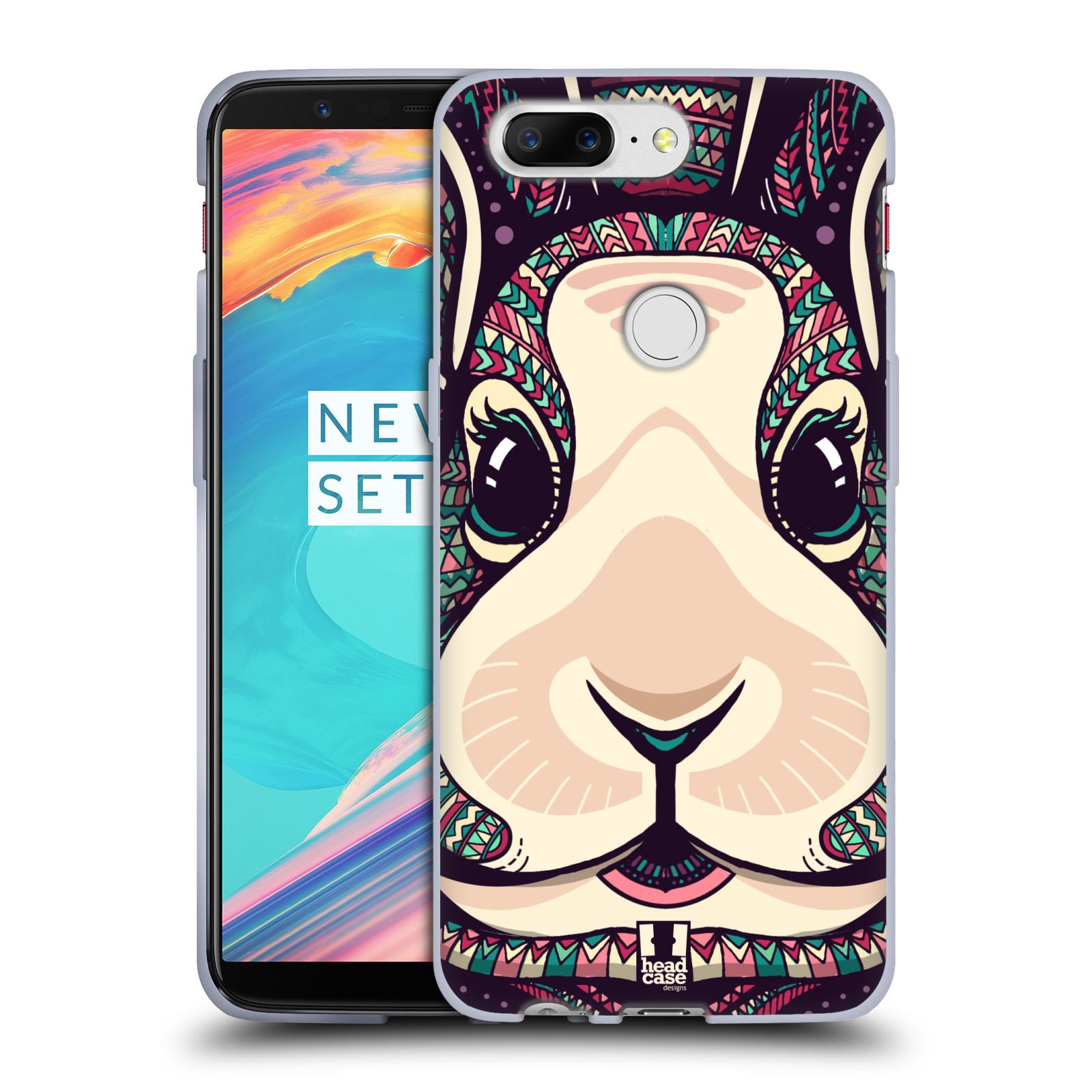 Silikonové pouzdro na mobil OnePlus 5T - Head Case - AZTEC ZAJÍČEK
