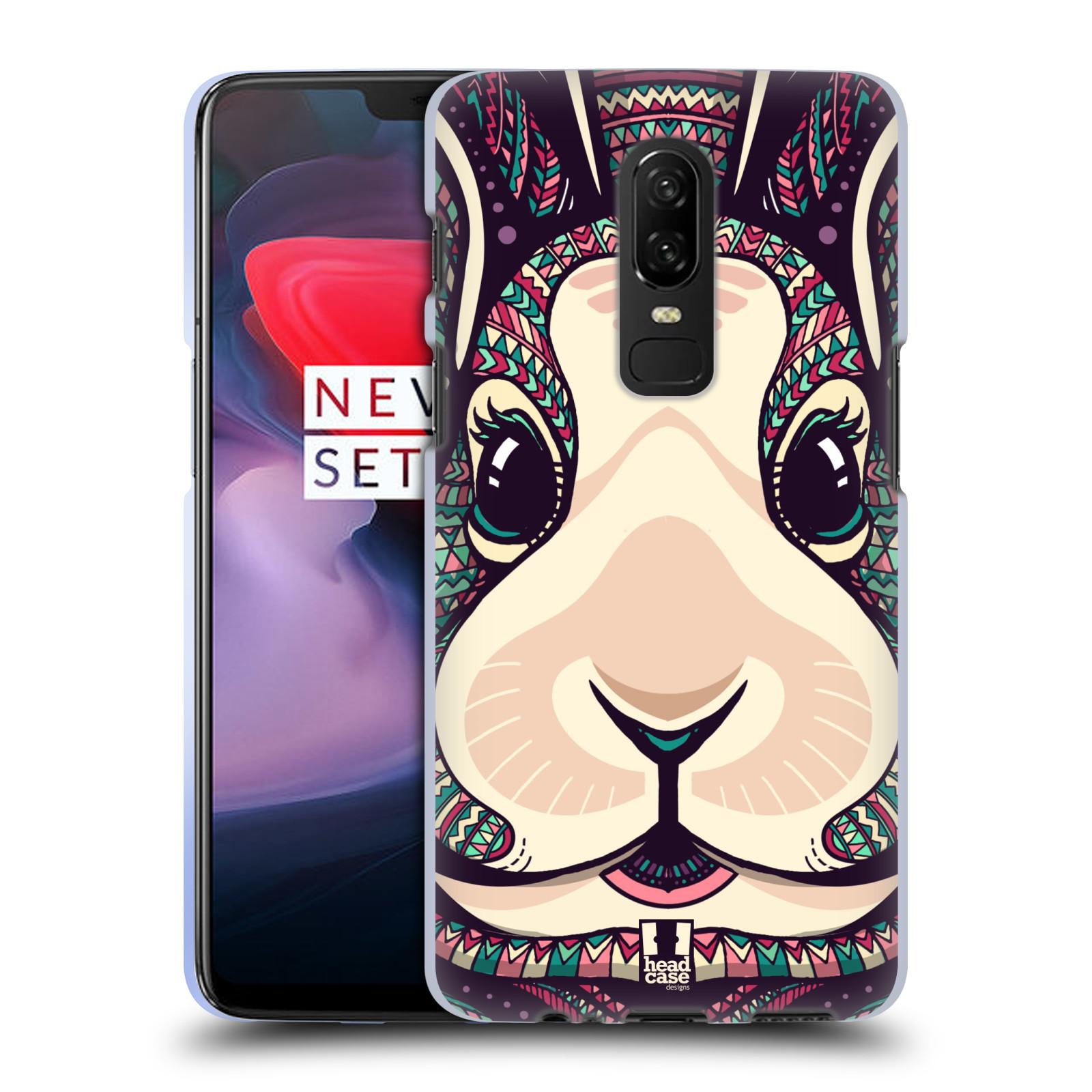 Silikonové pouzdro na mobil OnePlus 6 - Head Case - AZTEC ZAJÍČEK