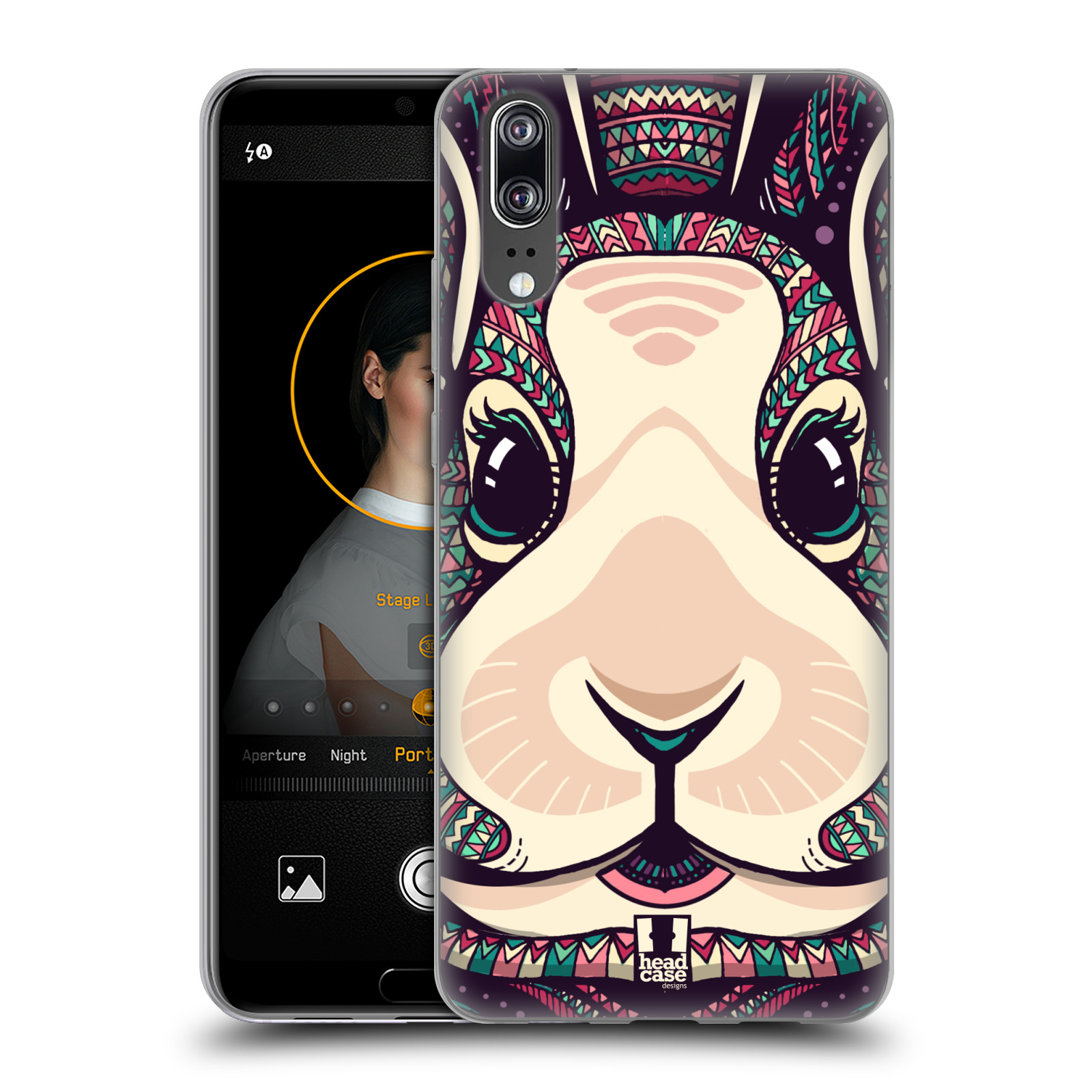 Silikonové pouzdro na mobil Huawei P20 - Head Case - AZTEC ZAJÍČEK