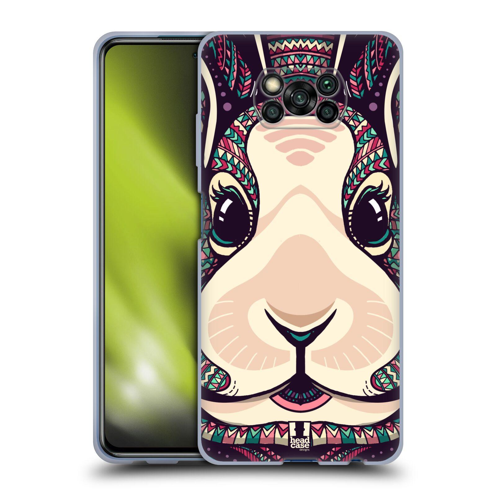 Silikonové pouzdro na mobil Xiaomi Poco X3 NFC - Head Case - AZTEC ZAJÍČEK