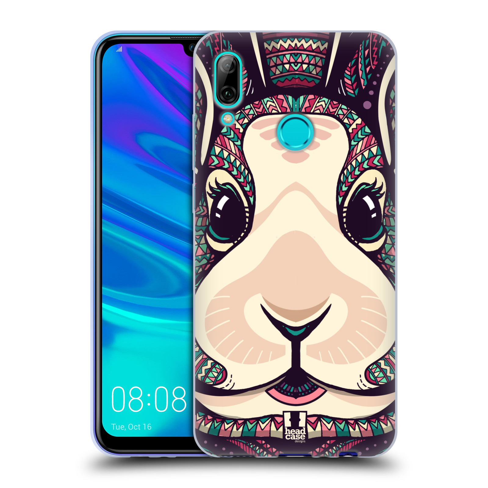 Silikonové pouzdro na mobil Huawei P Smart (2019) - Head Case - AZTEC ZAJÍČEK
