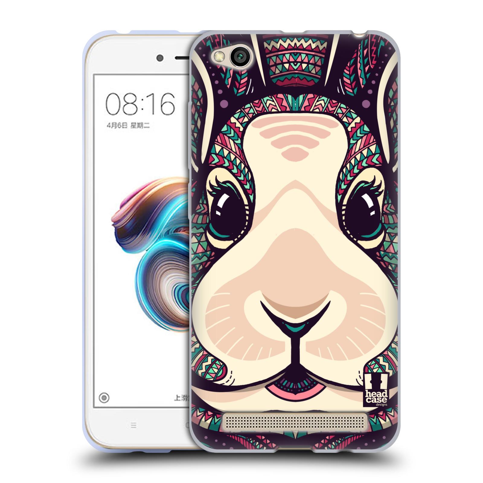 Silikonové pouzdro na mobil Xiaomi Redmi 5A - Head Case - AZTEC ZAJÍČEK