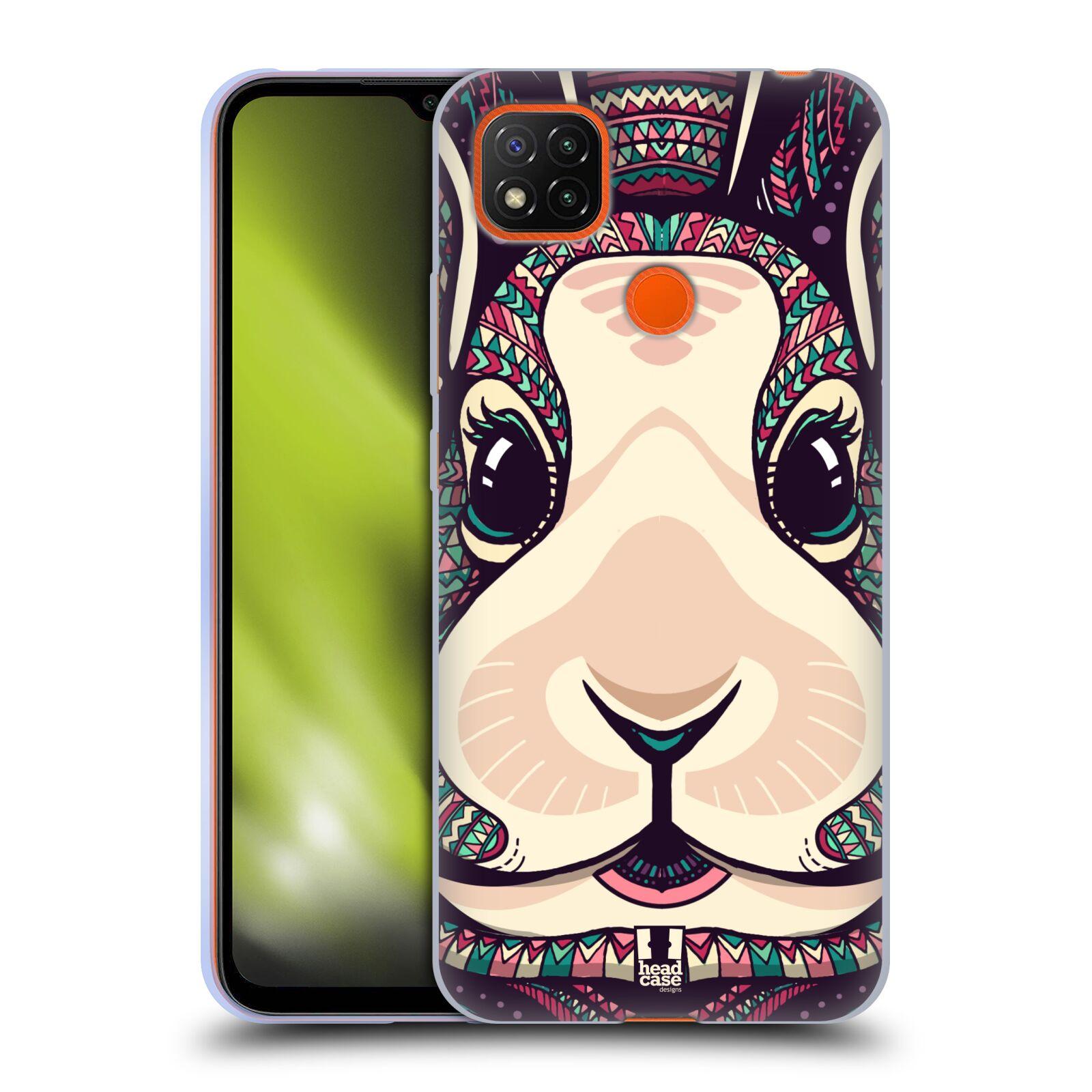 Silikonové pouzdro na mobil Xiaomi Redmi 9C - Head Case - AZTEC ZAJÍČEK