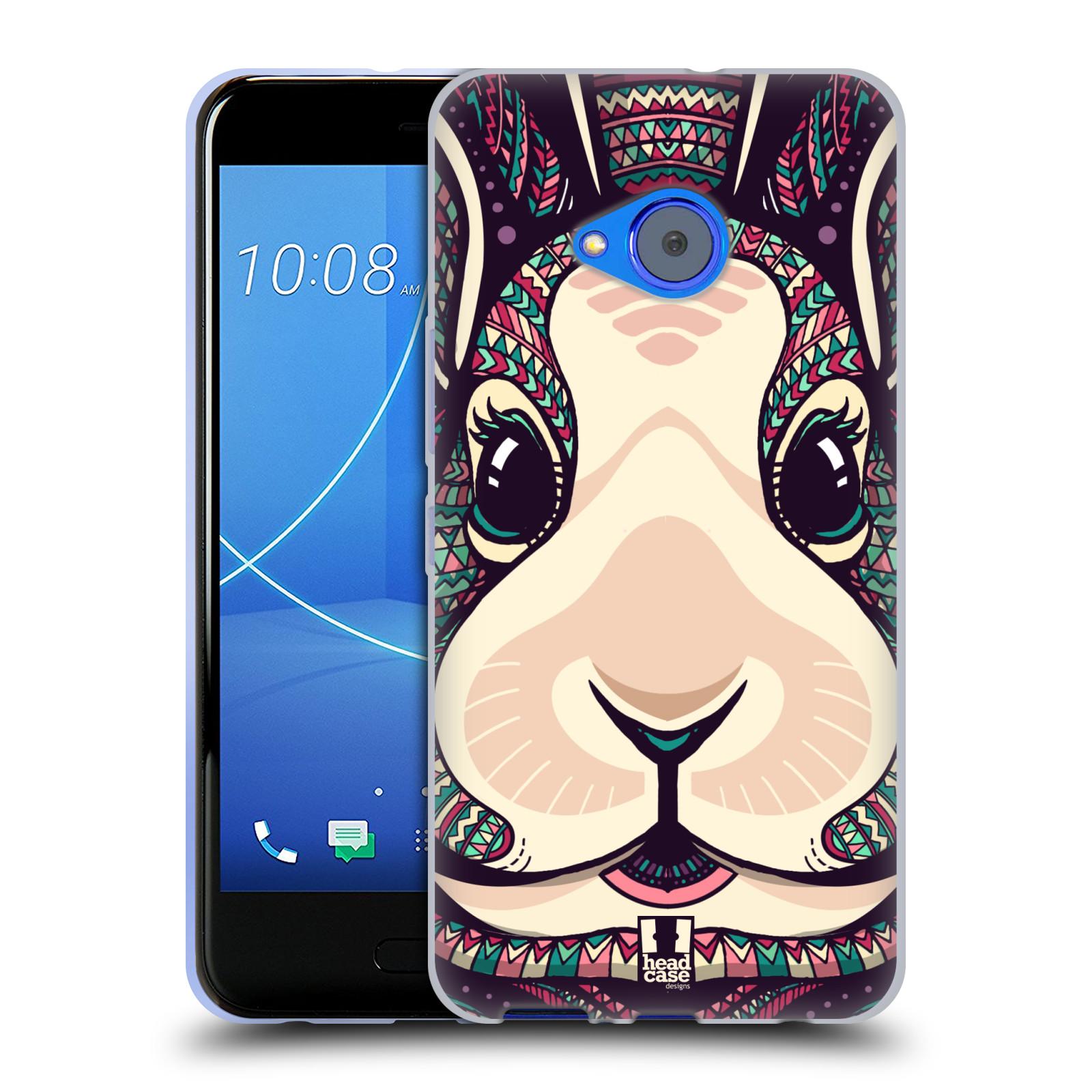 Silikonové pouzdro na mobil HTC U11 Life - Head Case - AZTEC ZAJÍČEK