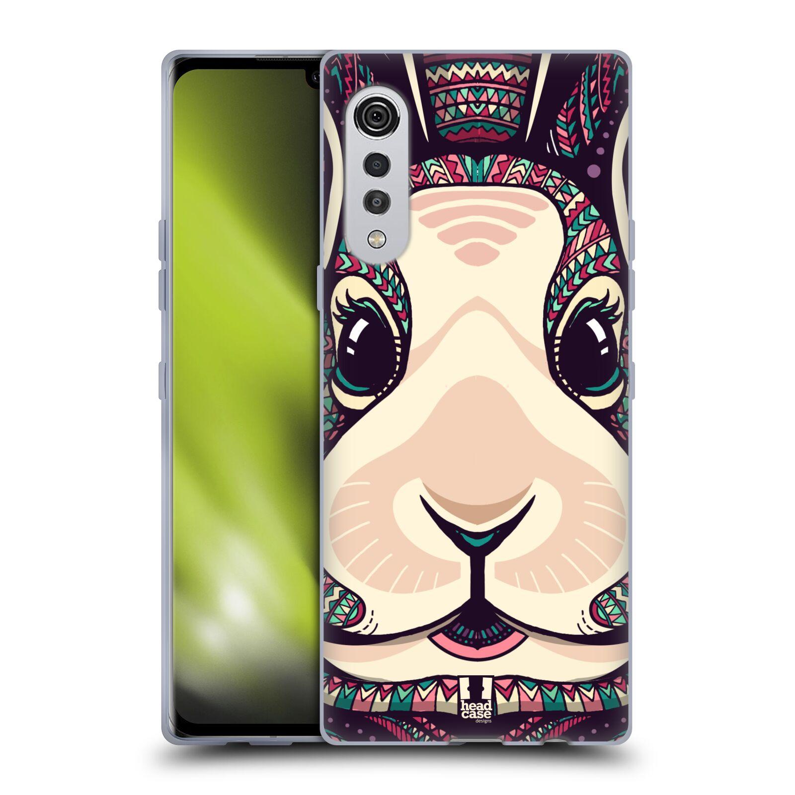 Silikonové pouzdro na mobil LG Velvet - Head Case - AZTEC ZAJÍČEK