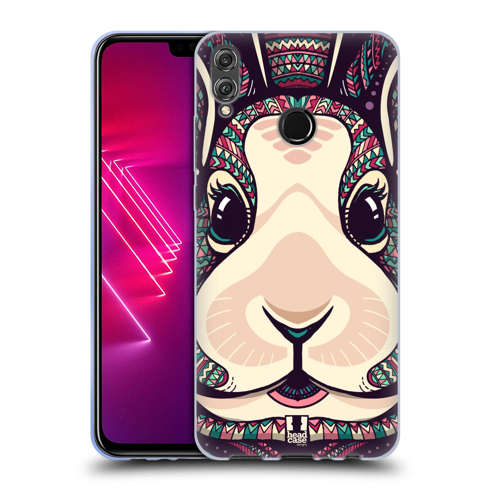 Silikonové pouzdro na mobil Honor View 10 Lite - Head Case - AZTEC ZAJÍČEK