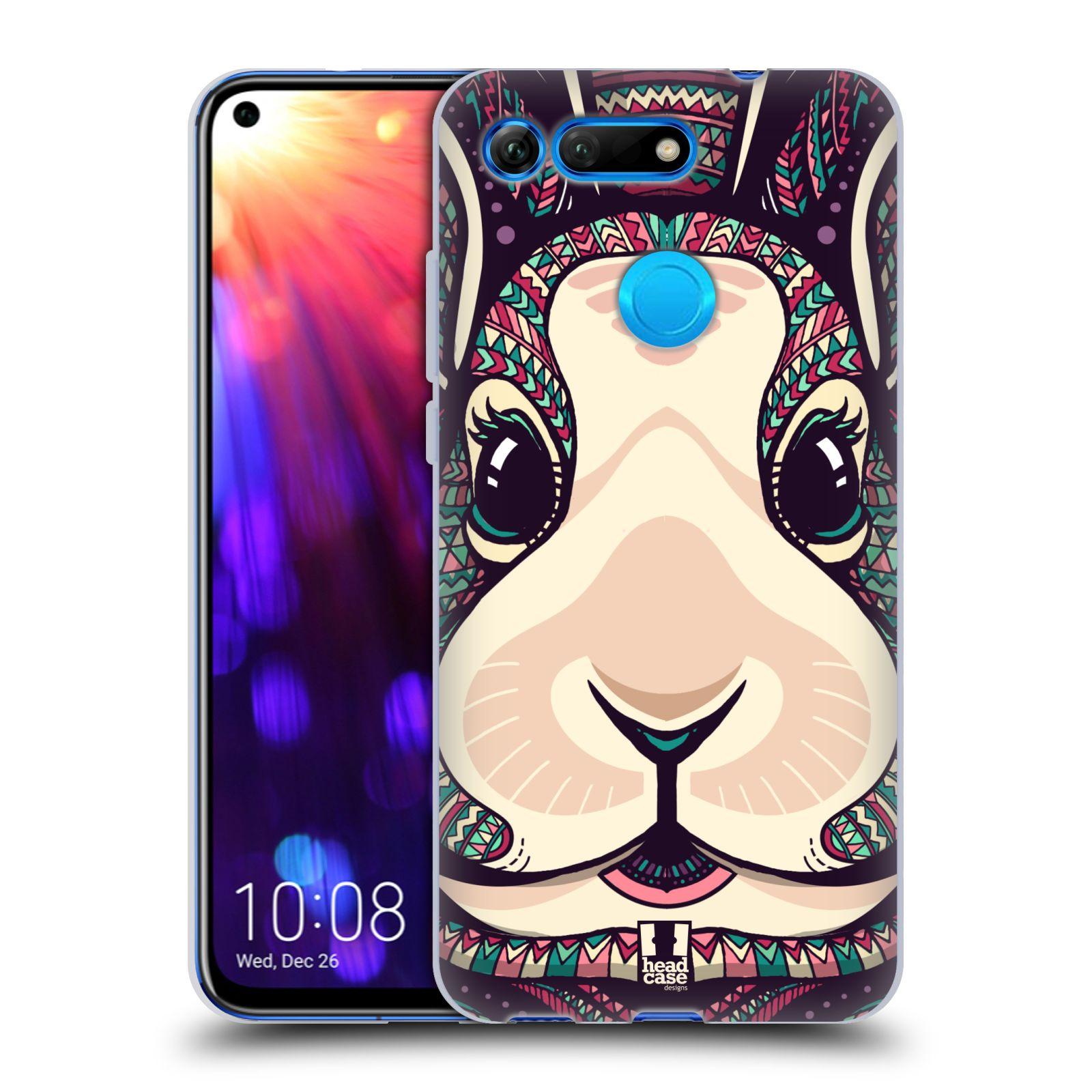 Silikonové pouzdro na mobil Honor View 20 - Head Case - AZTEC ZAJÍČEK