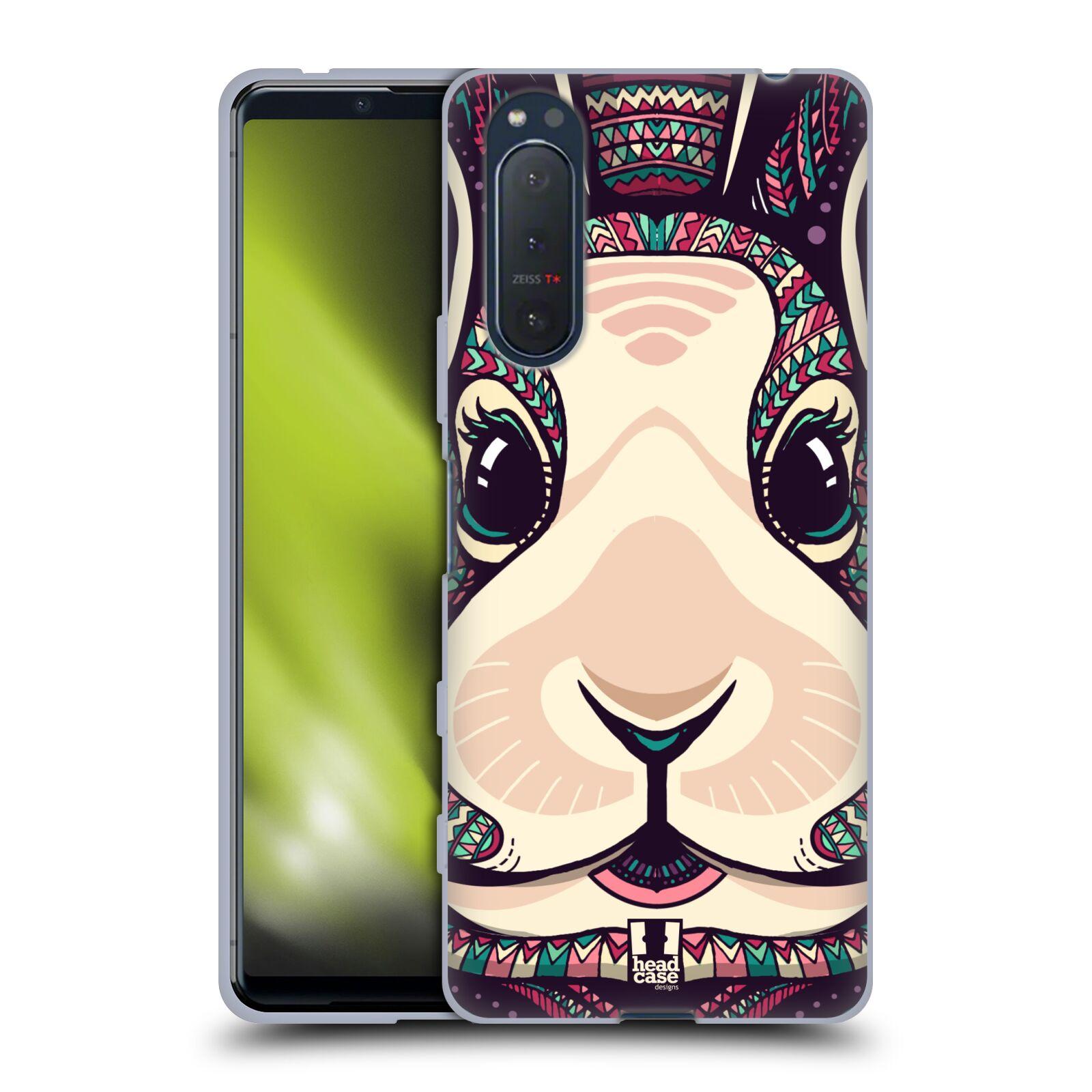 Silikonové pouzdro na mobil Sony Xperia 5 II - Head Case - AZTEC ZAJÍČEK