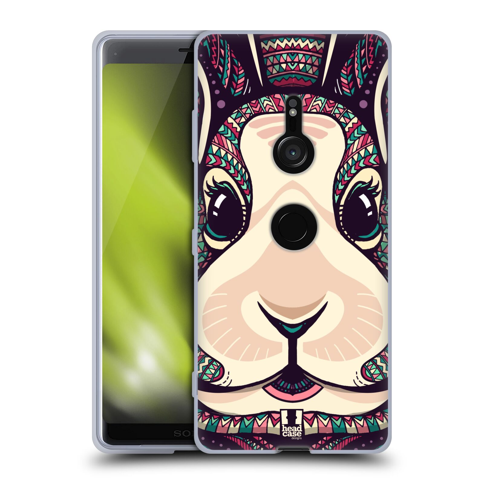 Silikonové pouzdro na mobil Sony Xperia XZ3 - Head Case - AZTEC ZAJÍČEK