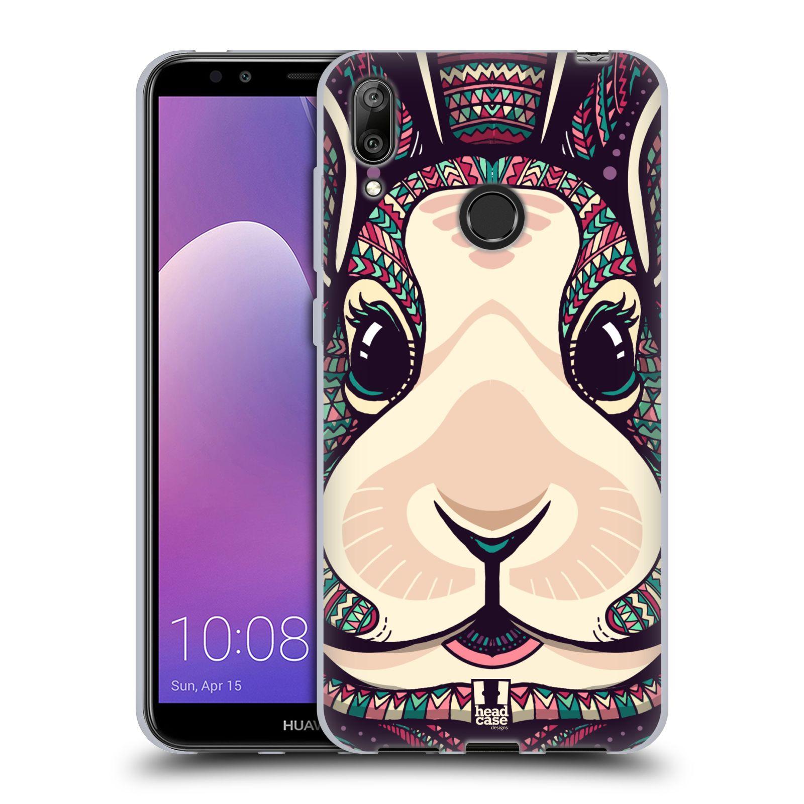 Silikonové pouzdro na mobil Huawei Y7 (2019) - Head Case - AZTEC ZAJÍČEK