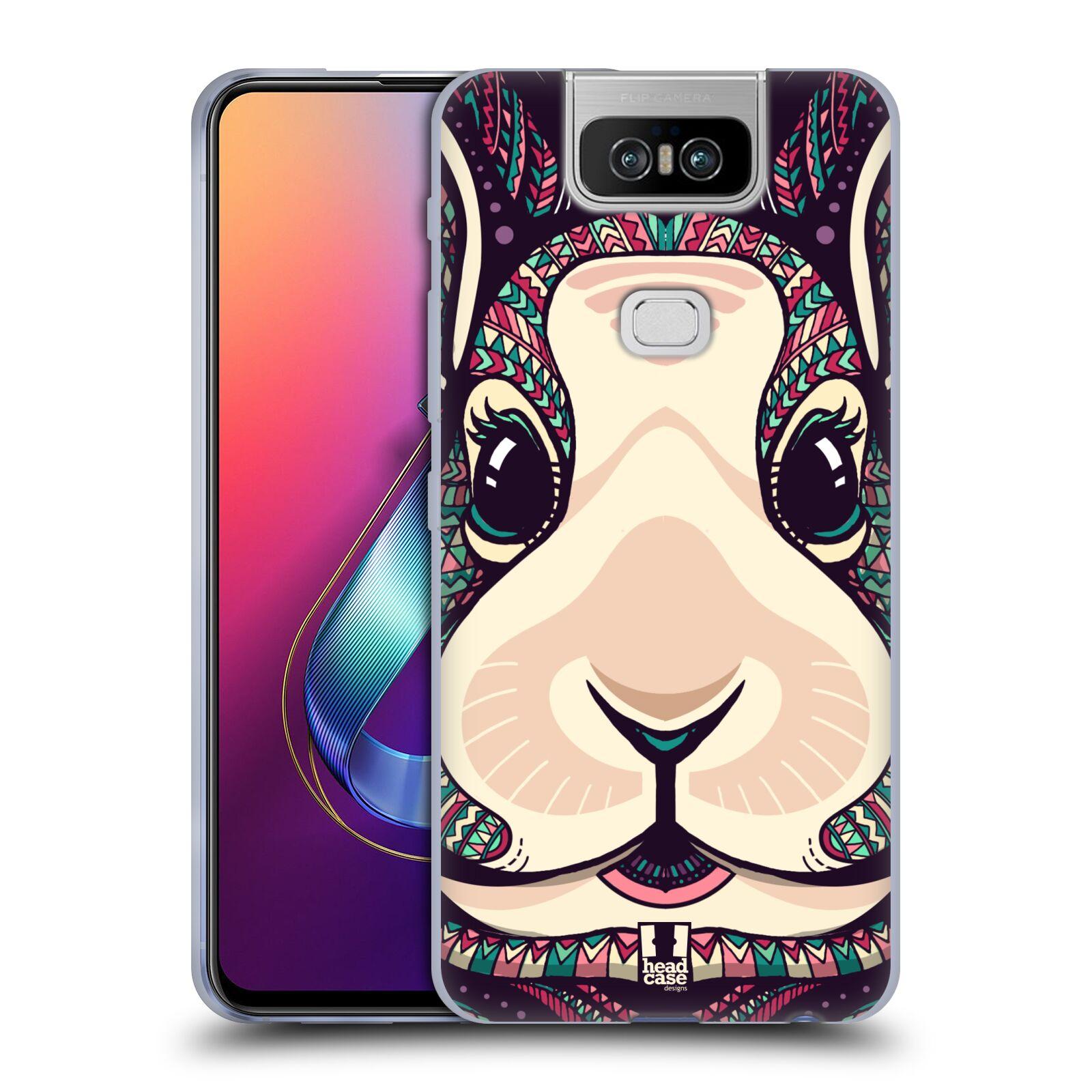 Silikonové pouzdro na mobil Asus Zenfone 6 ZS630KL - Head Case - AZTEC ZAJÍČEK