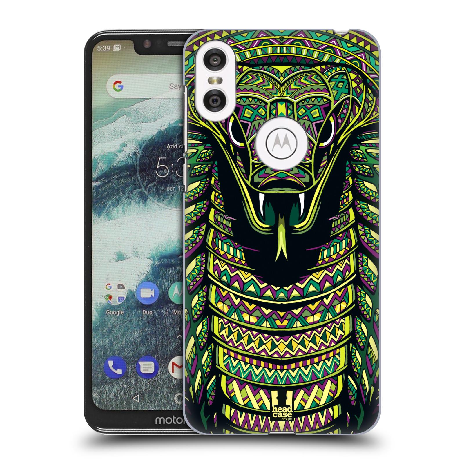 Plastové pouzdro na mobil Motorola One - Head Case - AZTEC HAD