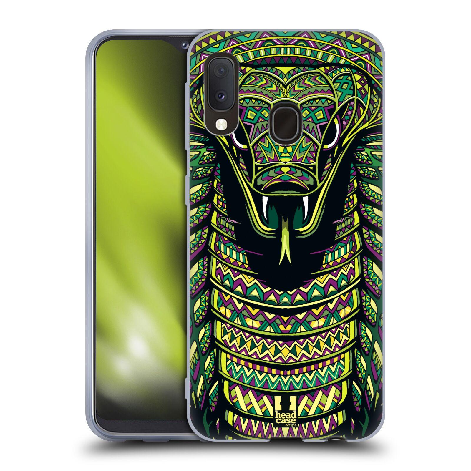Silikonové pouzdro na mobil Samsung Galaxy A20e - Head Case - AZTEC HAD
