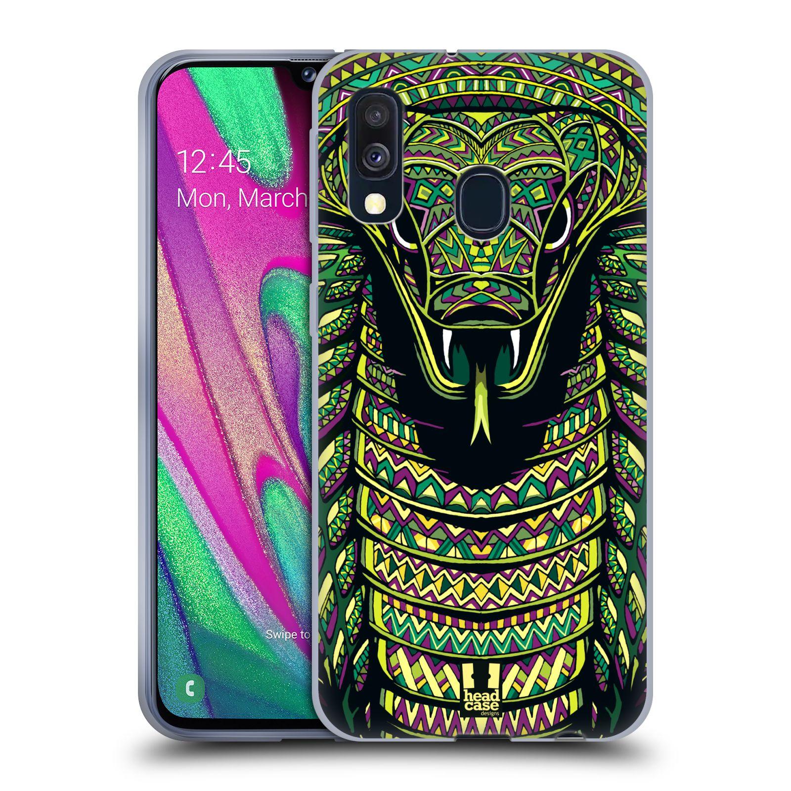 Silikonové pouzdro na mobil Samsung Galaxy A40 - Head Case - AZTEC HAD