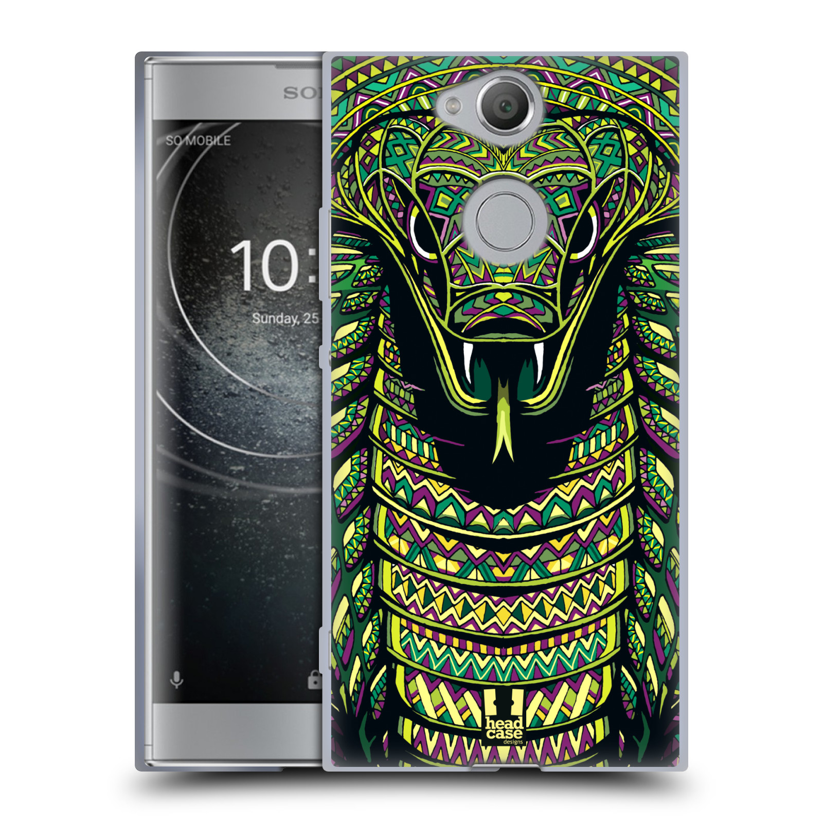 Silikonové pouzdro na mobil Sony Xperia XA2 - Head Case - AZTEC HAD