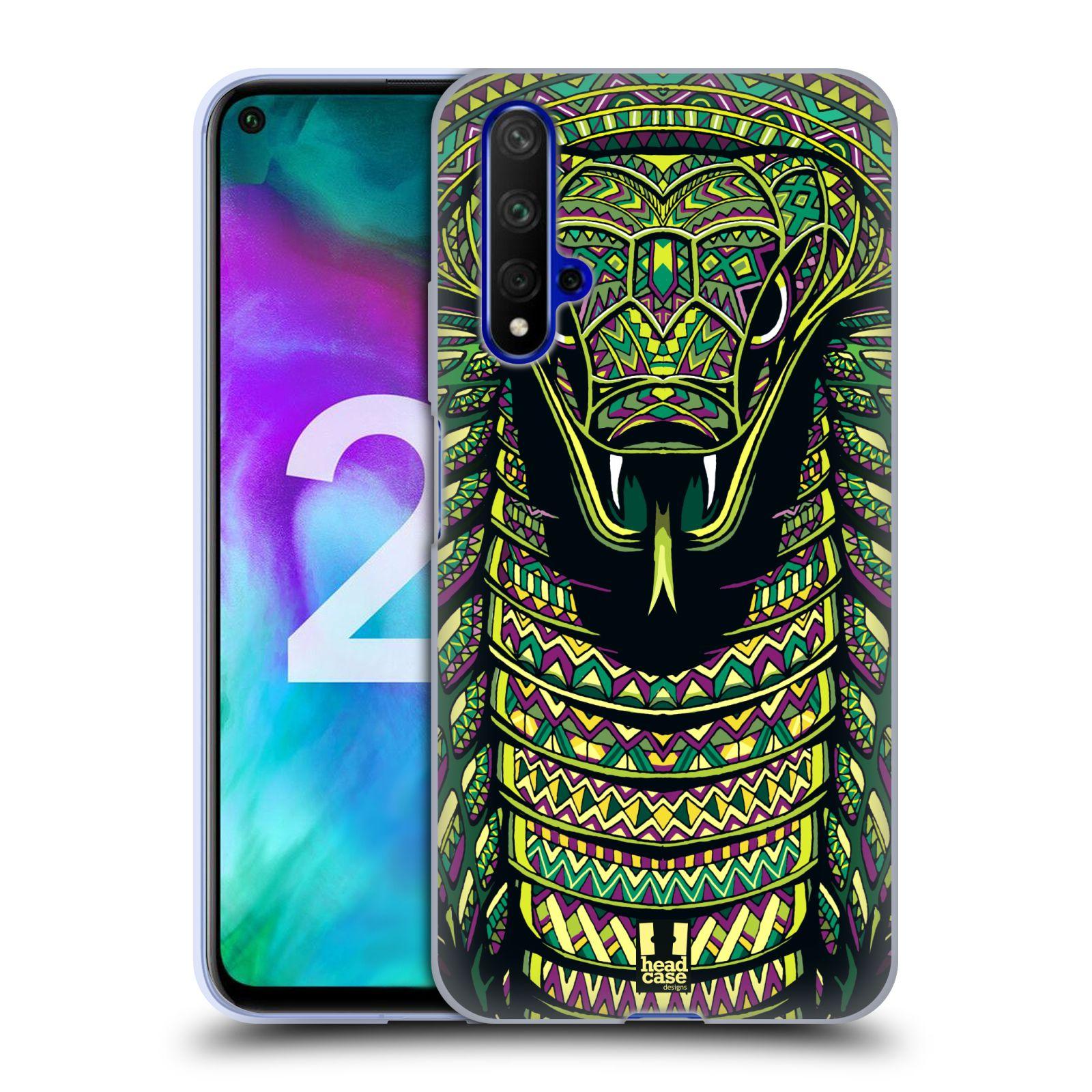 Silikonové pouzdro na mobil Honor 20 - Head Case - AZTEC HAD