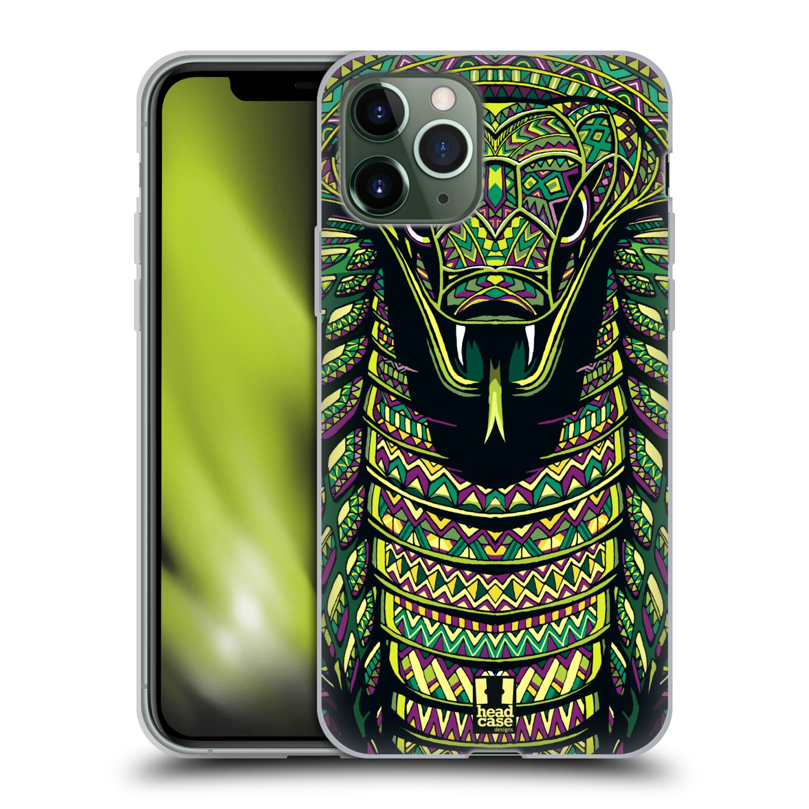 co je iphone | Silikonové pouzdro na mobil Apple iPhone 11 Pro - Head Case - AZTEC HAD