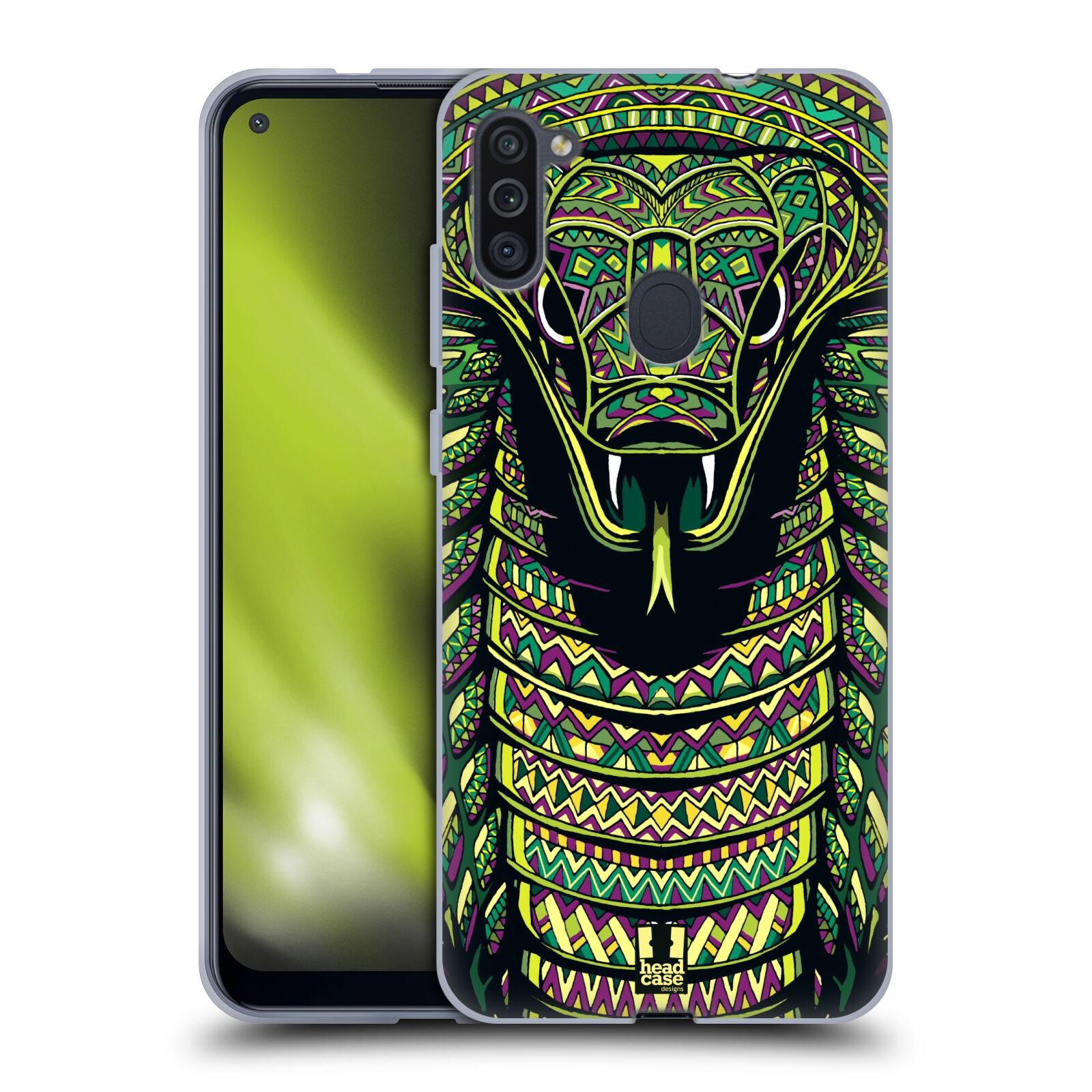 Silikonové pouzdro na mobil Samsung Galaxy M11 - Head Case - AZTEC HAD