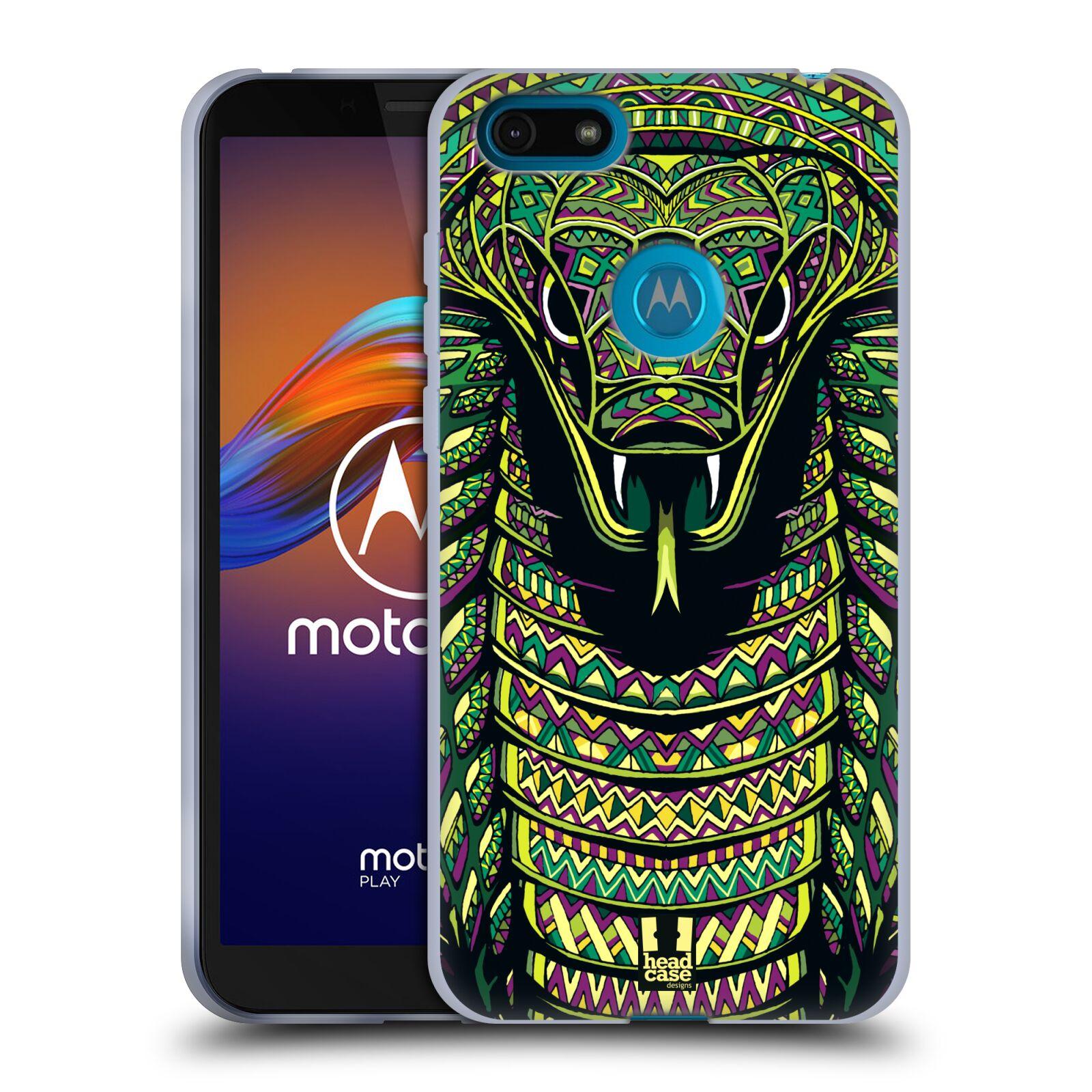 Silikonové pouzdro na mobil Motorola Moto E6 Play - Head Case - AZTEC HAD