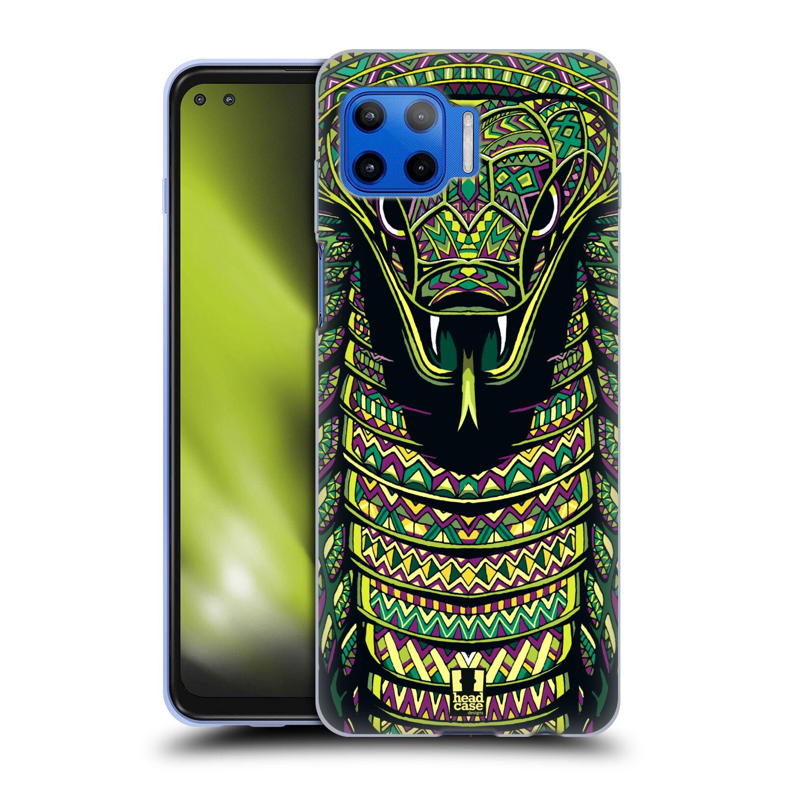 Silikonové pouzdro na mobil Motorola Moto G 5G Plus - Head Case - AZTEC HAD