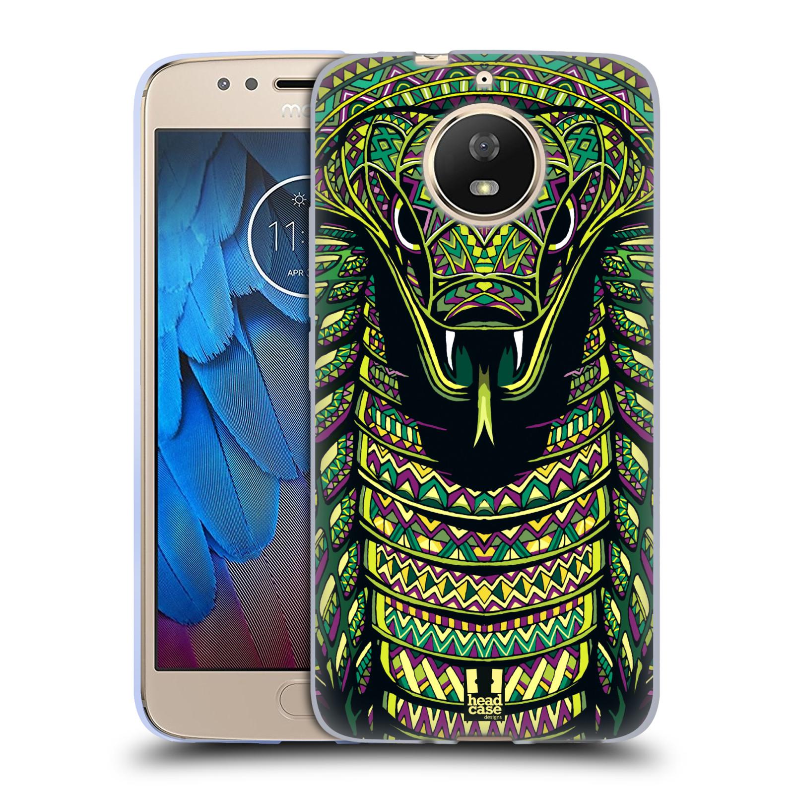 Silikonové pouzdro na mobil Lenovo Moto G5s - Head Case - AZTEC HAD
